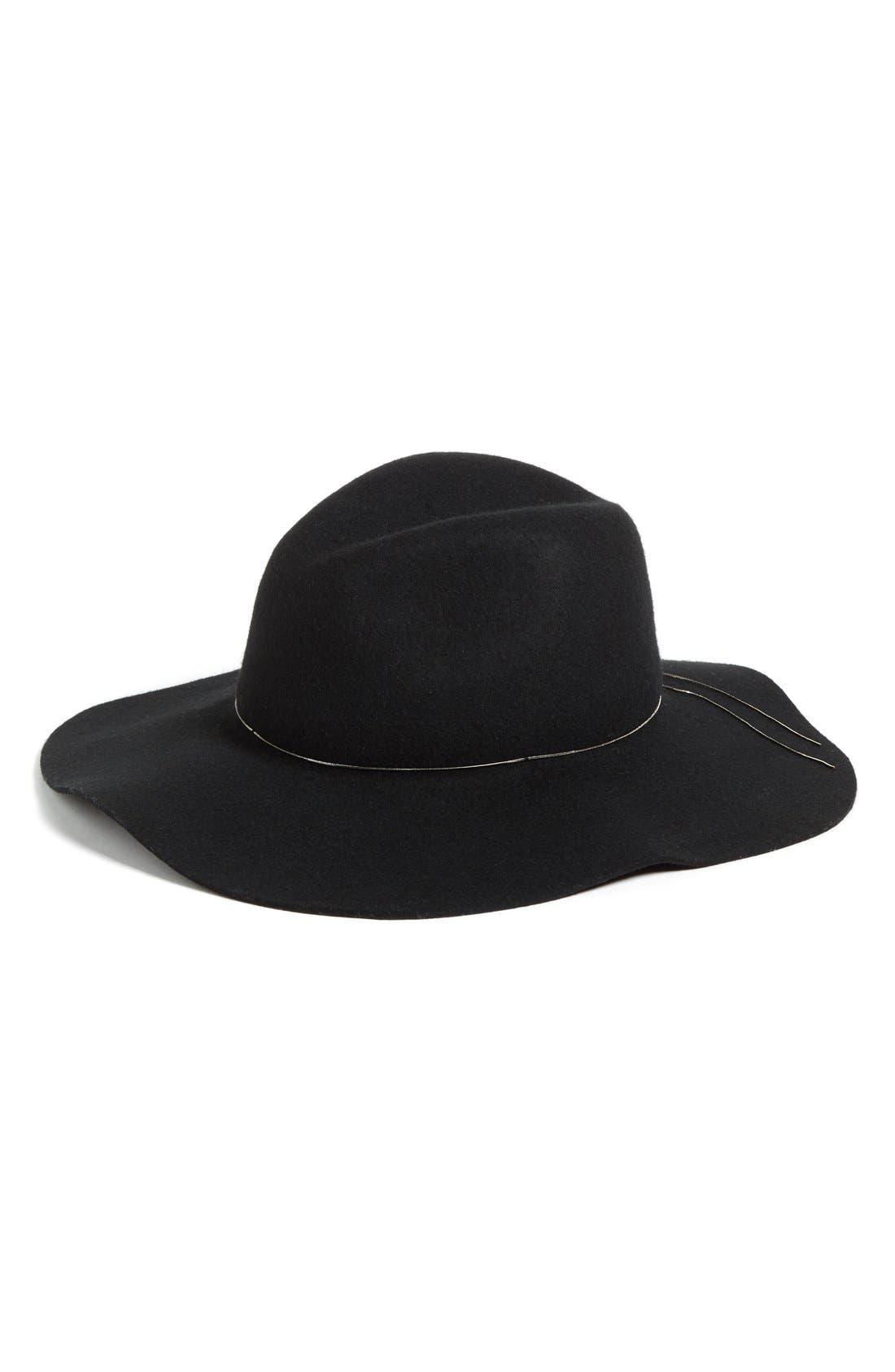 HINGE, Floppy Wool Felt Hat, Main thumbnail 1, color, 001