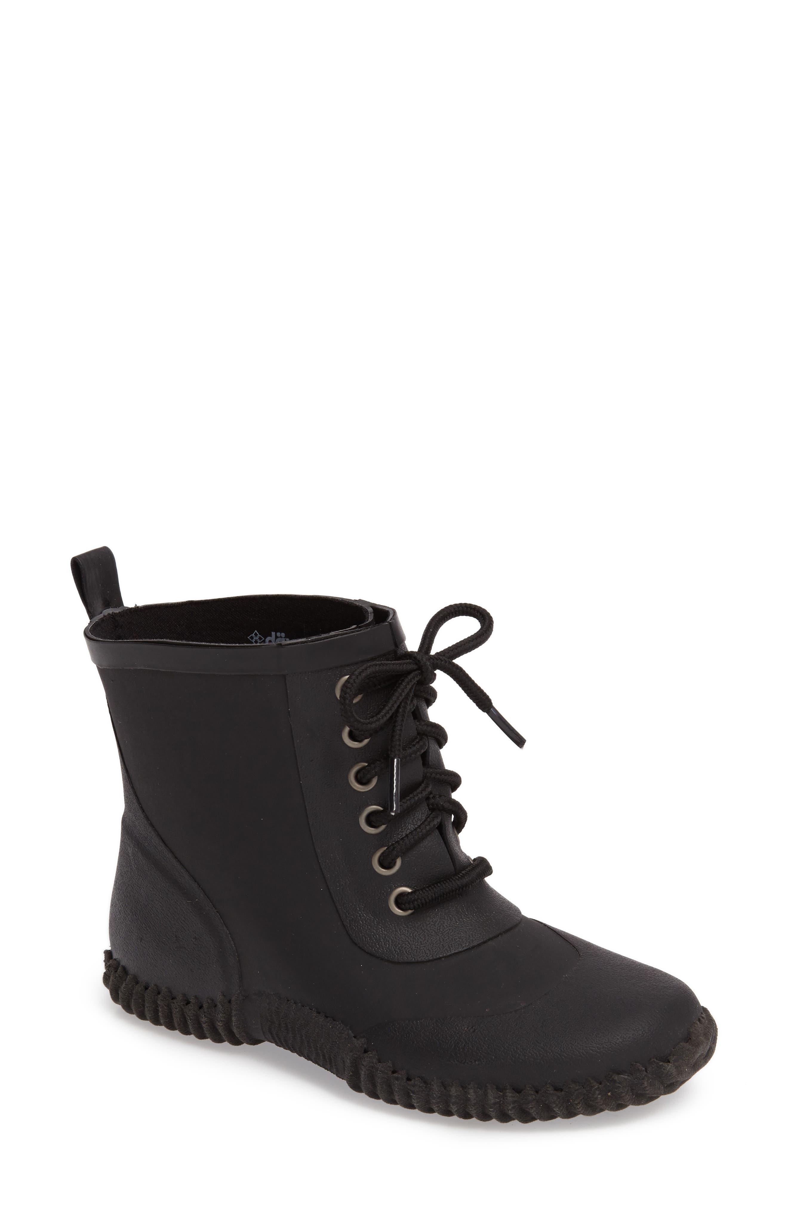 DÄV, Telluride Waterproof Rain Boot, Main thumbnail 1, color, BLACK