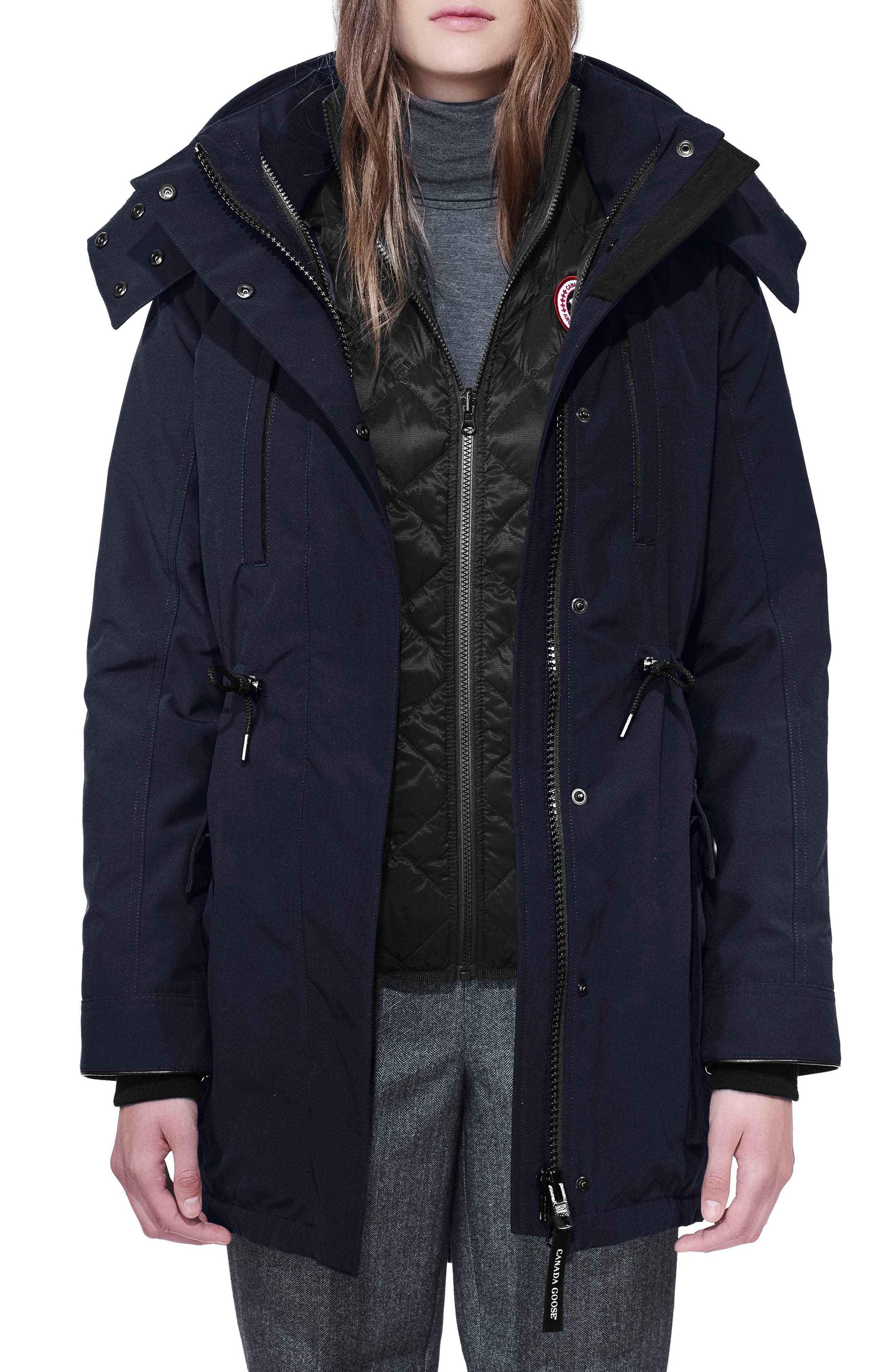 CANADA GOOSE Perley Waterproof 675-Fill-Power Down 3-in-1 Parka, Main, color, ADMIRAL BLUE
