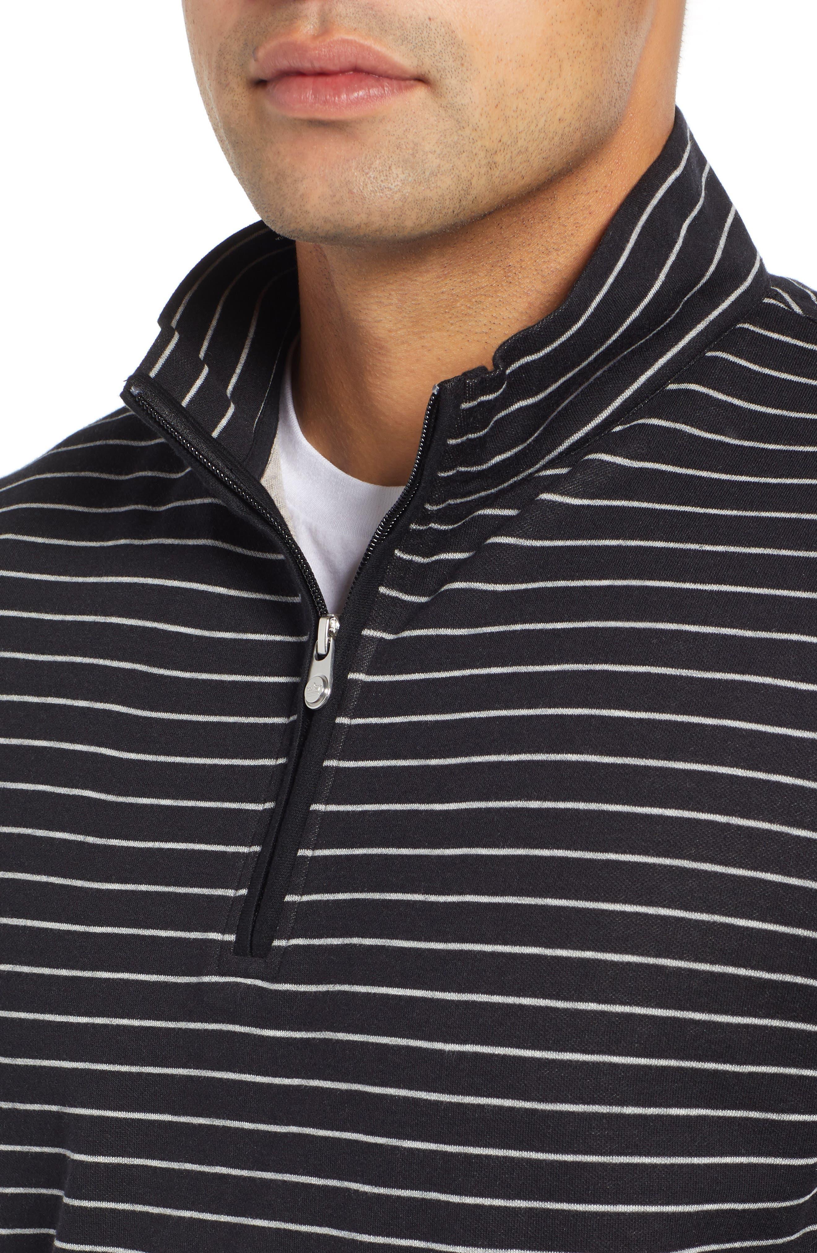 PETER MILLAR, Classic Fit Pullover, Alternate thumbnail 4, color, BLACK