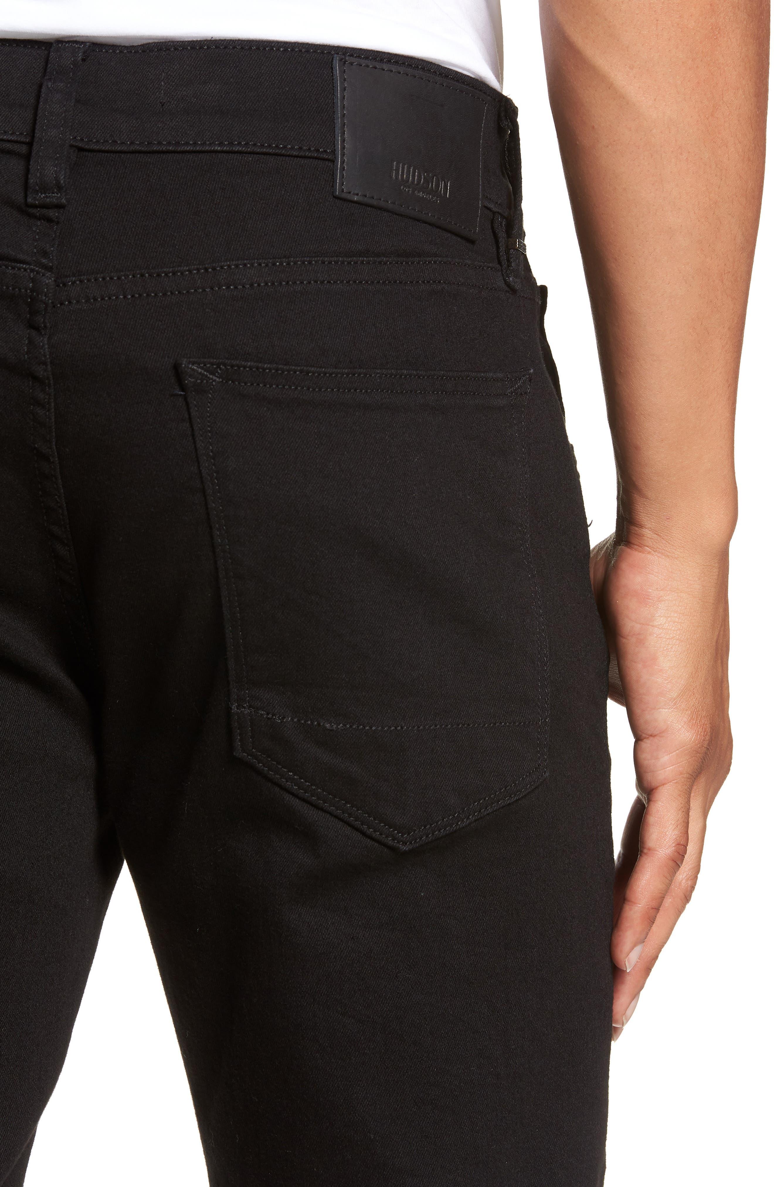 HUDSON JEANS, Blake Slim Fit Straight Leg Jeans, Alternate thumbnail 5, color, HASKETT