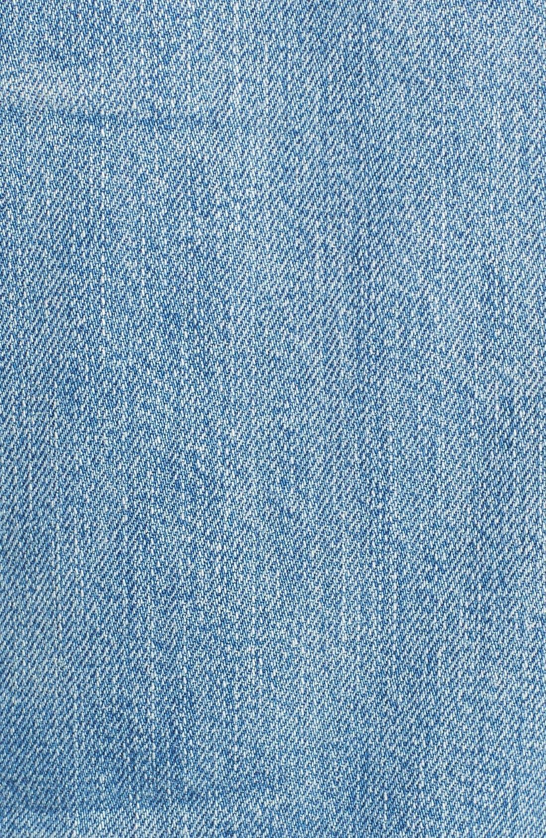 MADEWELL, Chest Pocket Denim Vest, Alternate thumbnail 5, color, 400