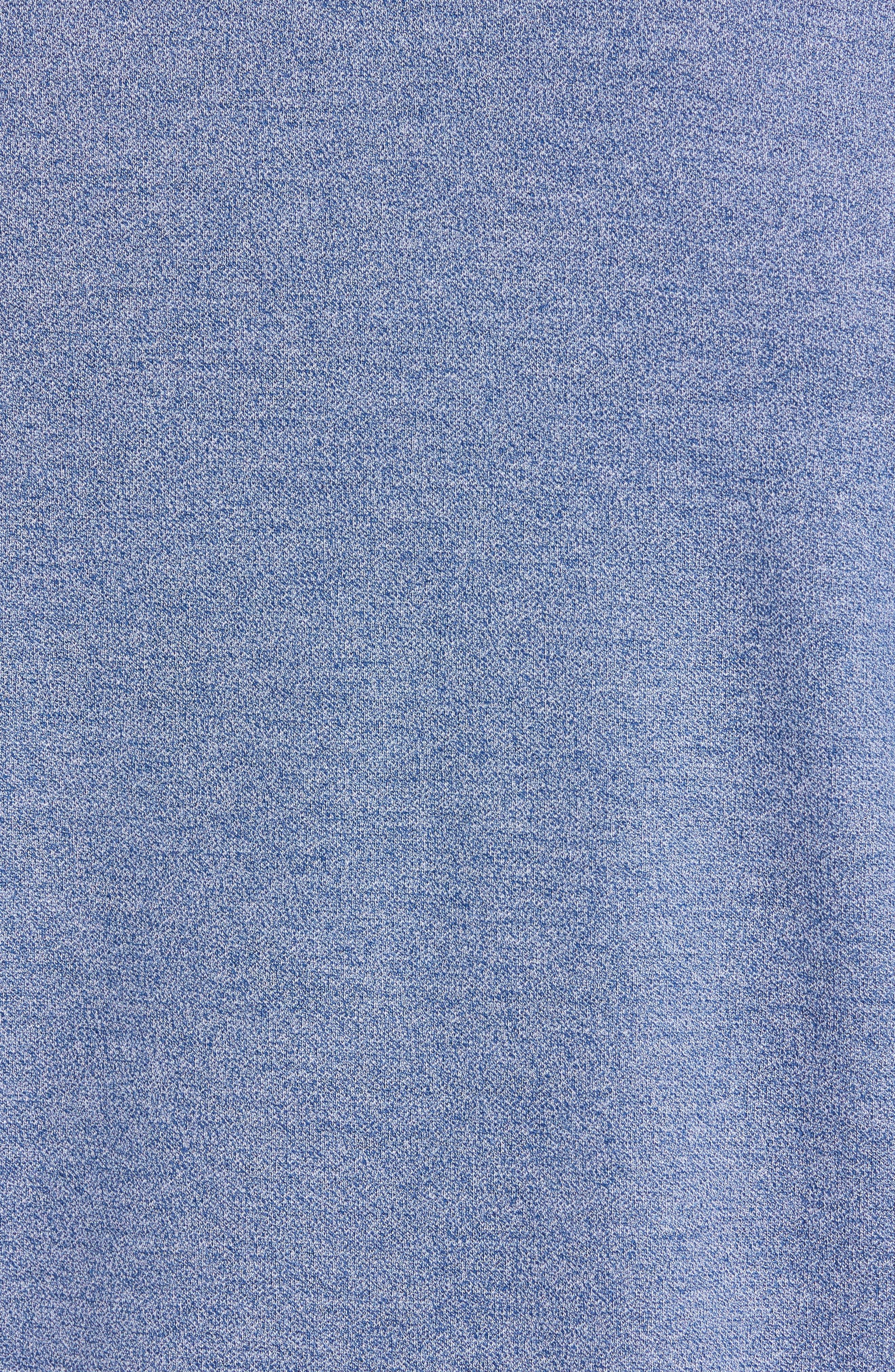 NORDSTROM MEN'S SHOP, Regular Fit Polo, Alternate thumbnail 5, color, BLUE CASPIA MELANGE