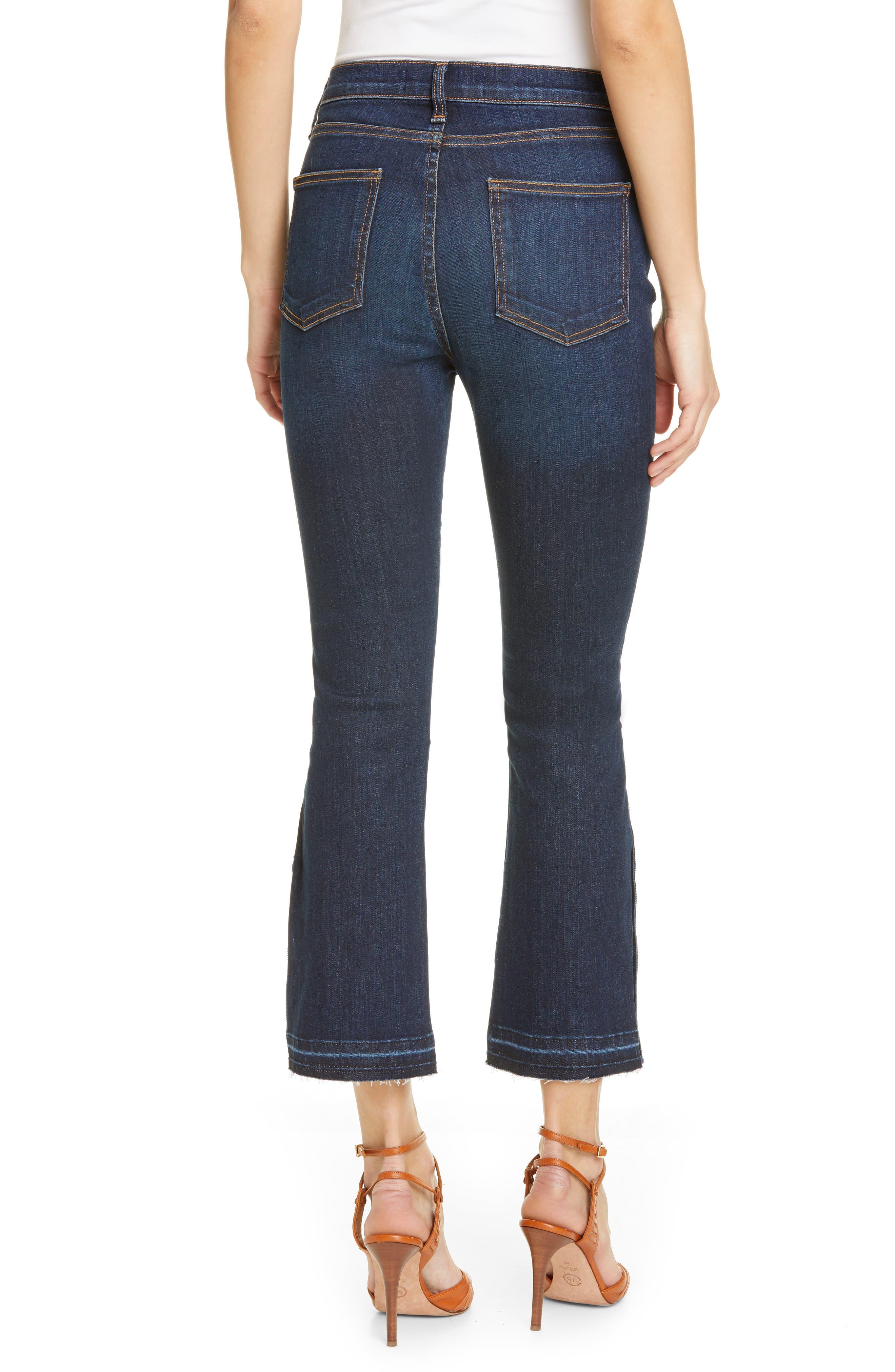 VERONICA BEARD, Carolyn Side Vent Baby Boot Jeans, Alternate thumbnail 2, color, DARK VINTAGE