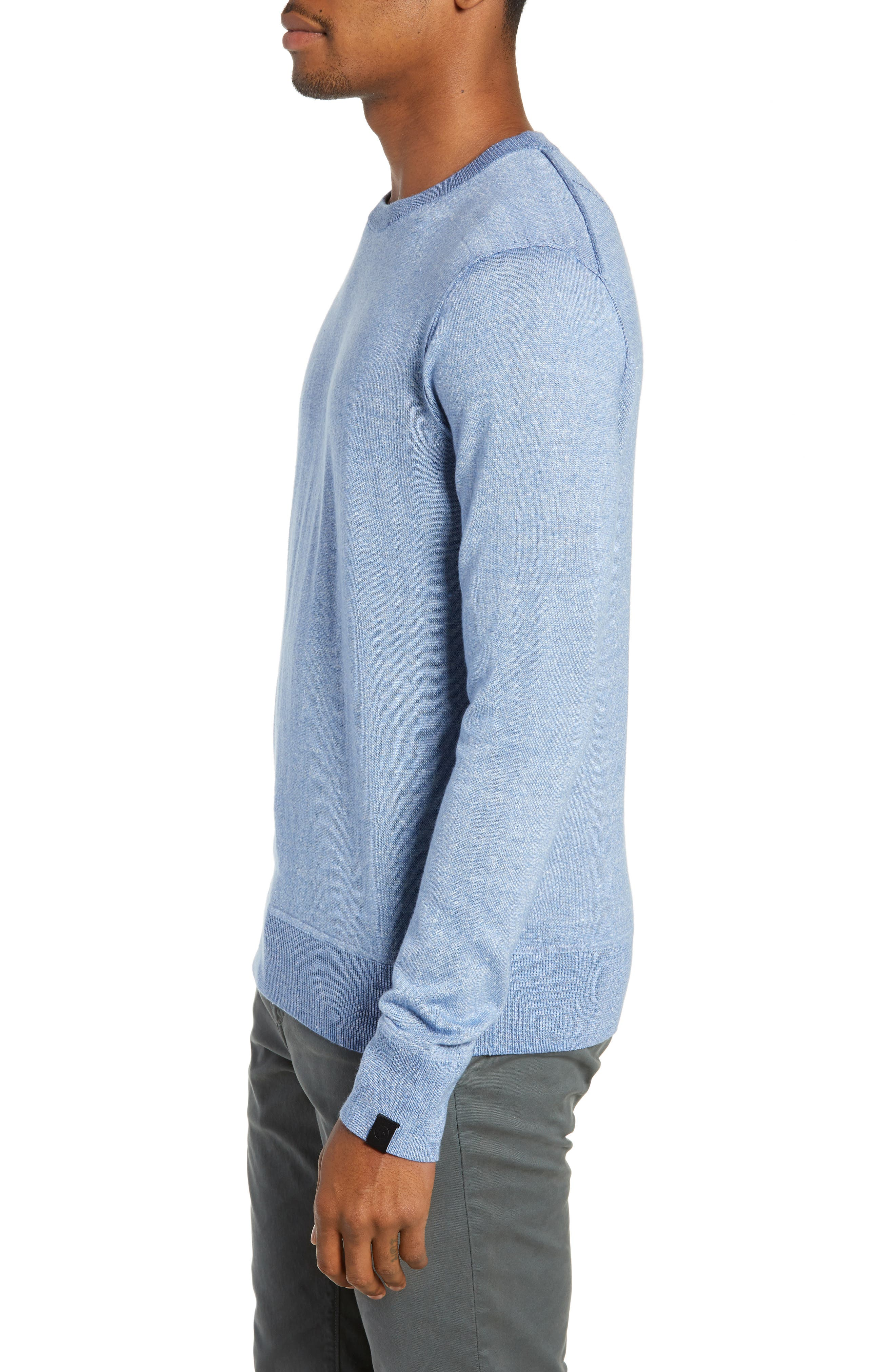 RAG & BONE, Dean Slim Fit Crewneck Sweater, Alternate thumbnail 3, color, 455