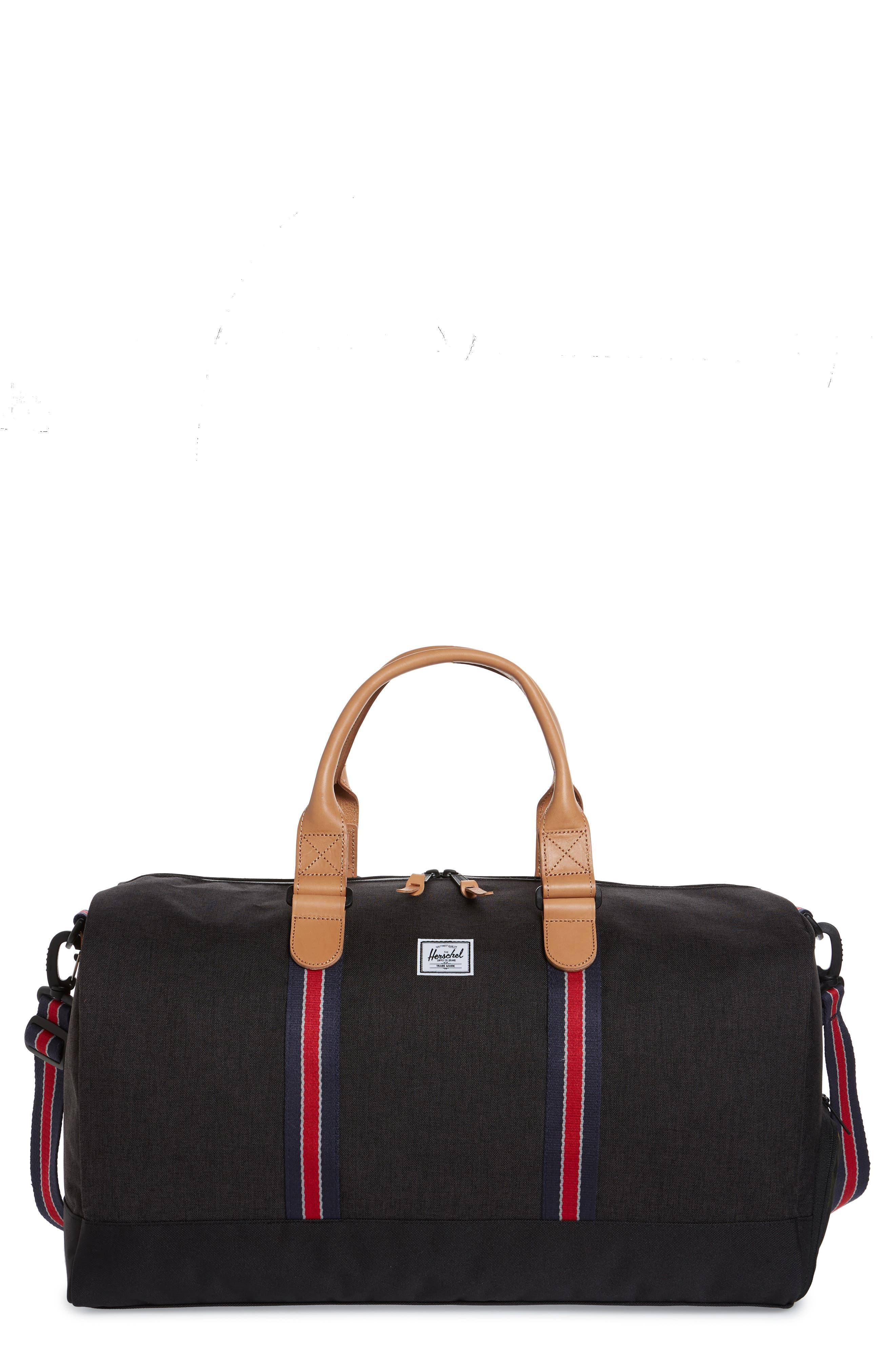 HERSCHEL SUPPLY CO. Novel Duffle Bag, Main, color, BLACK CAMO OFFSET