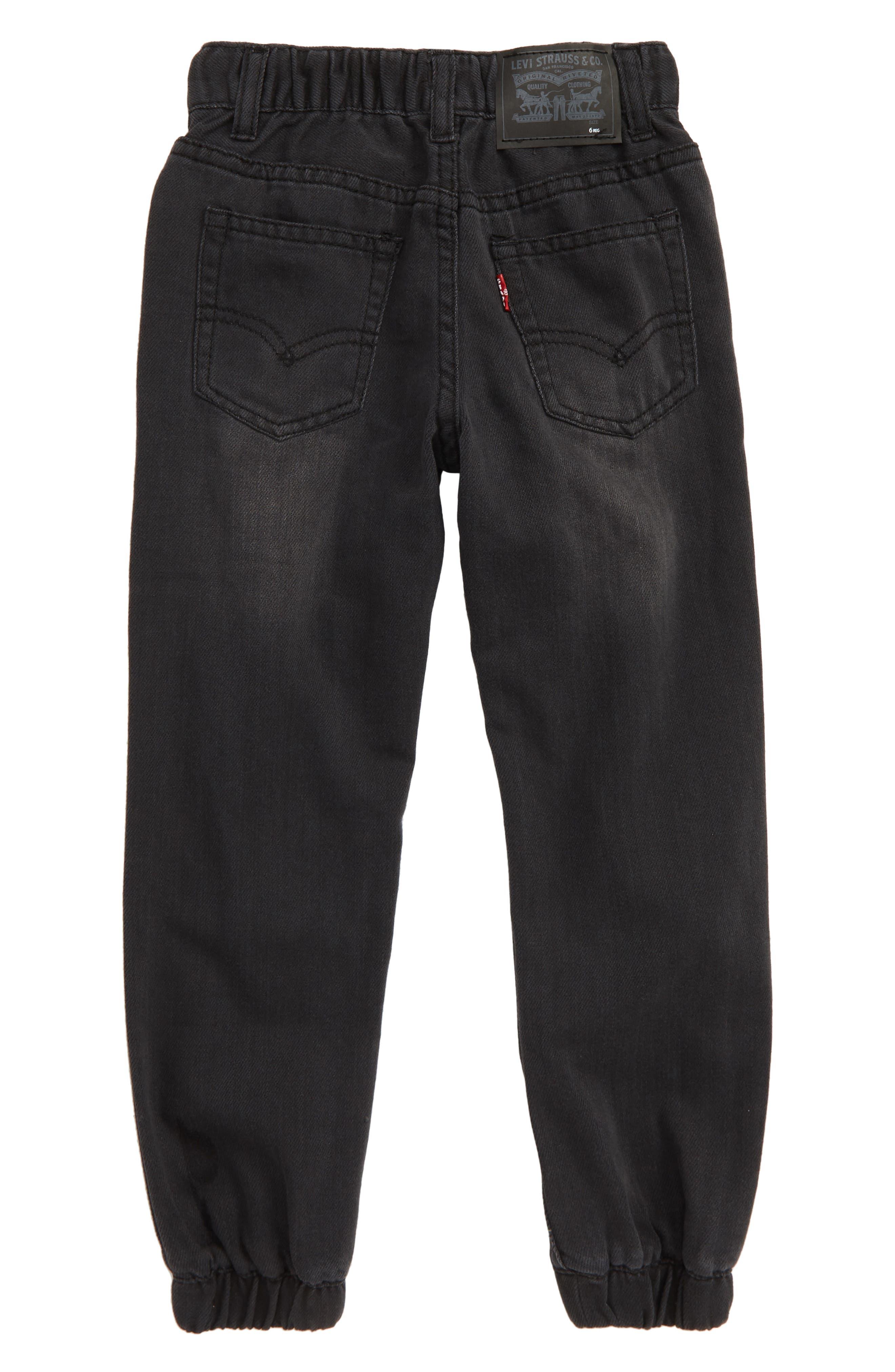 LEVI'S<SUP>®</SUP>, Denim Jogger Pants, Alternate thumbnail 2, color, BACK TO BLACK