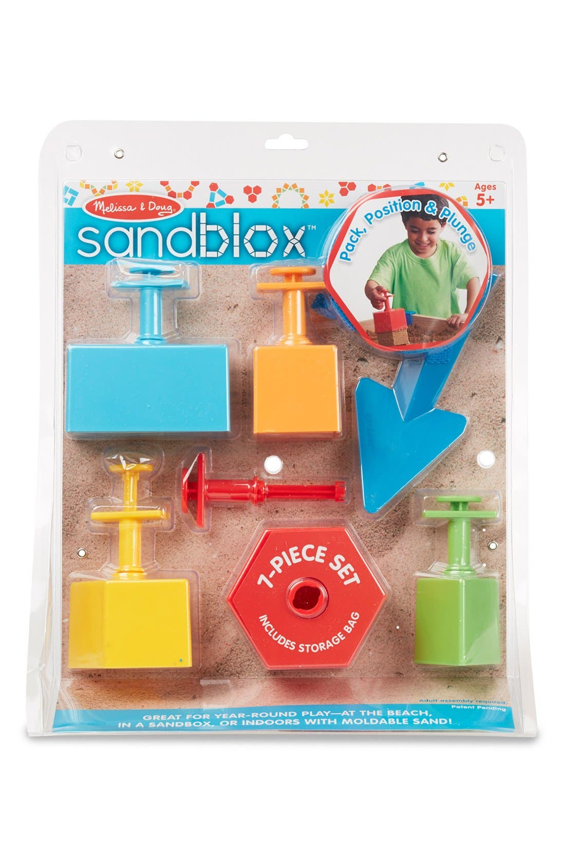 MELISSA & DOUG, 'SandBlox' Sand Box Set, Alternate thumbnail 4, color, MULTI
