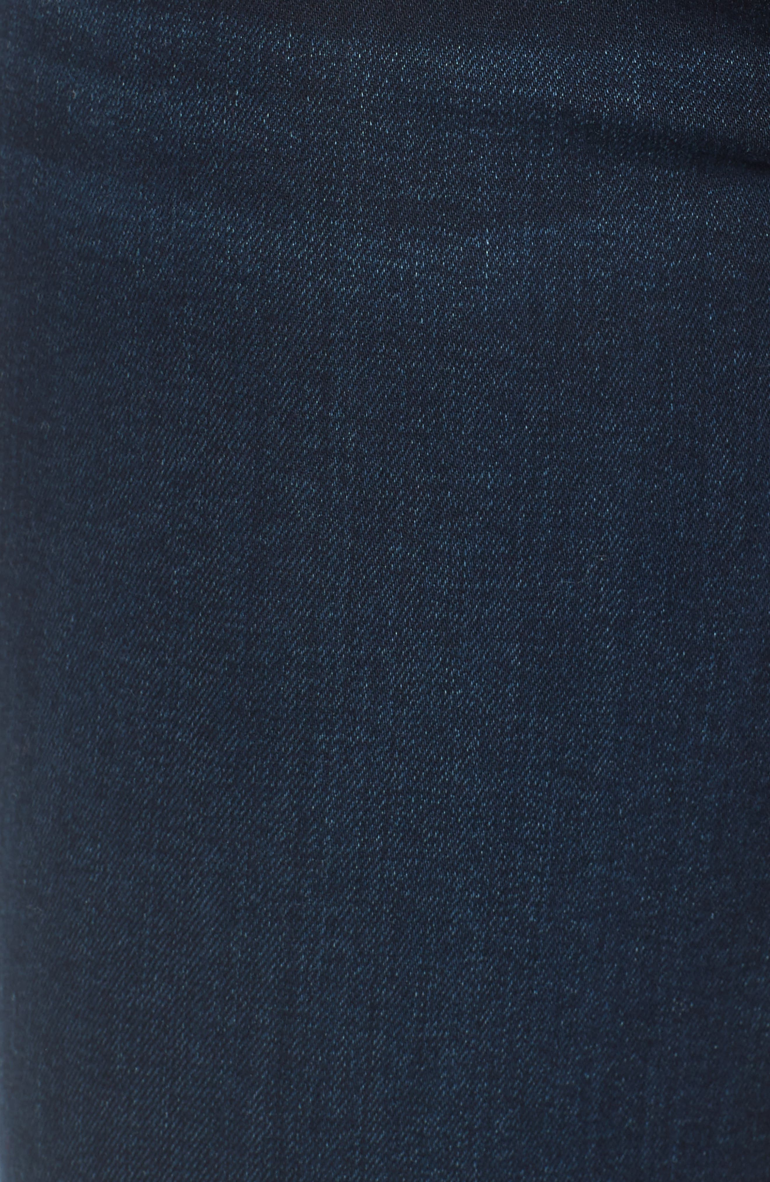 JEN7 BY 7 FOR ALL MANKIND, Comfort Skinny Denim Leggings, Alternate thumbnail 6, color, RICHE TOUCH BLUE/BLACK
