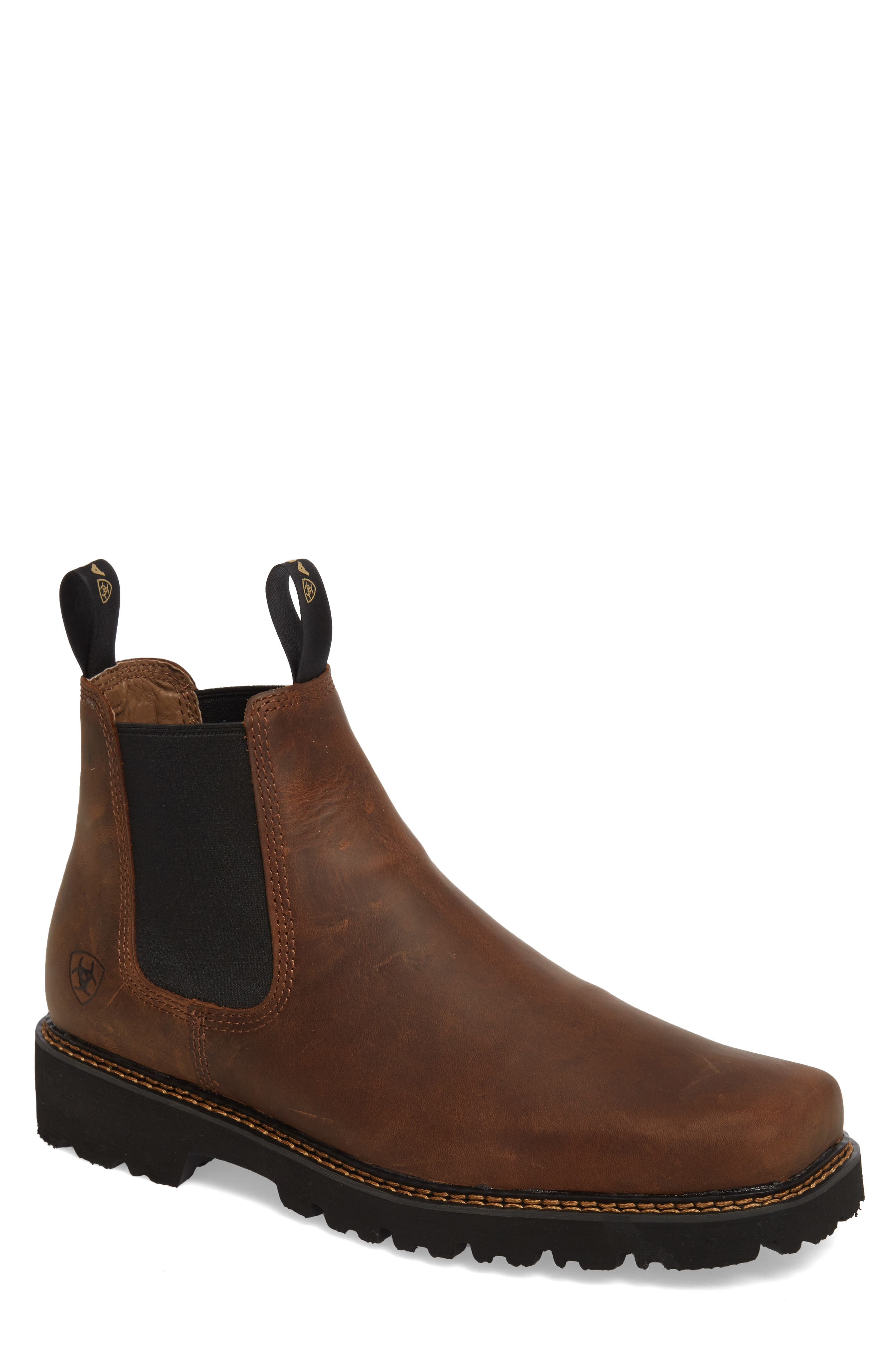 ARIAT, 'Spot Hog' Chelsea Boot, Main thumbnail 1, color, DISTRESSED BROWN LEATHER