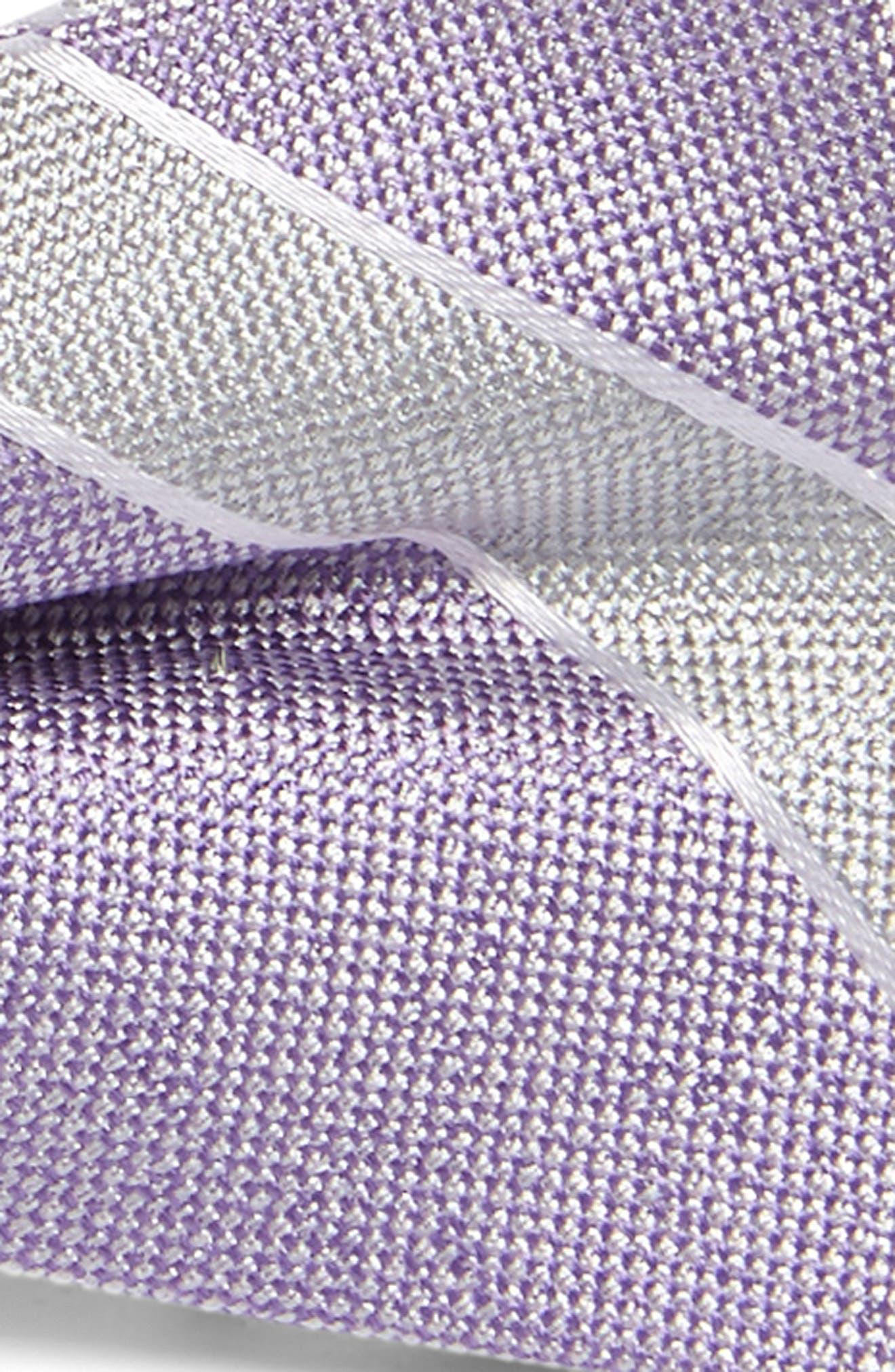 NORDSTROM, Anthony Stripe Silk Bow Tie, Alternate thumbnail 2, color, PURPLE