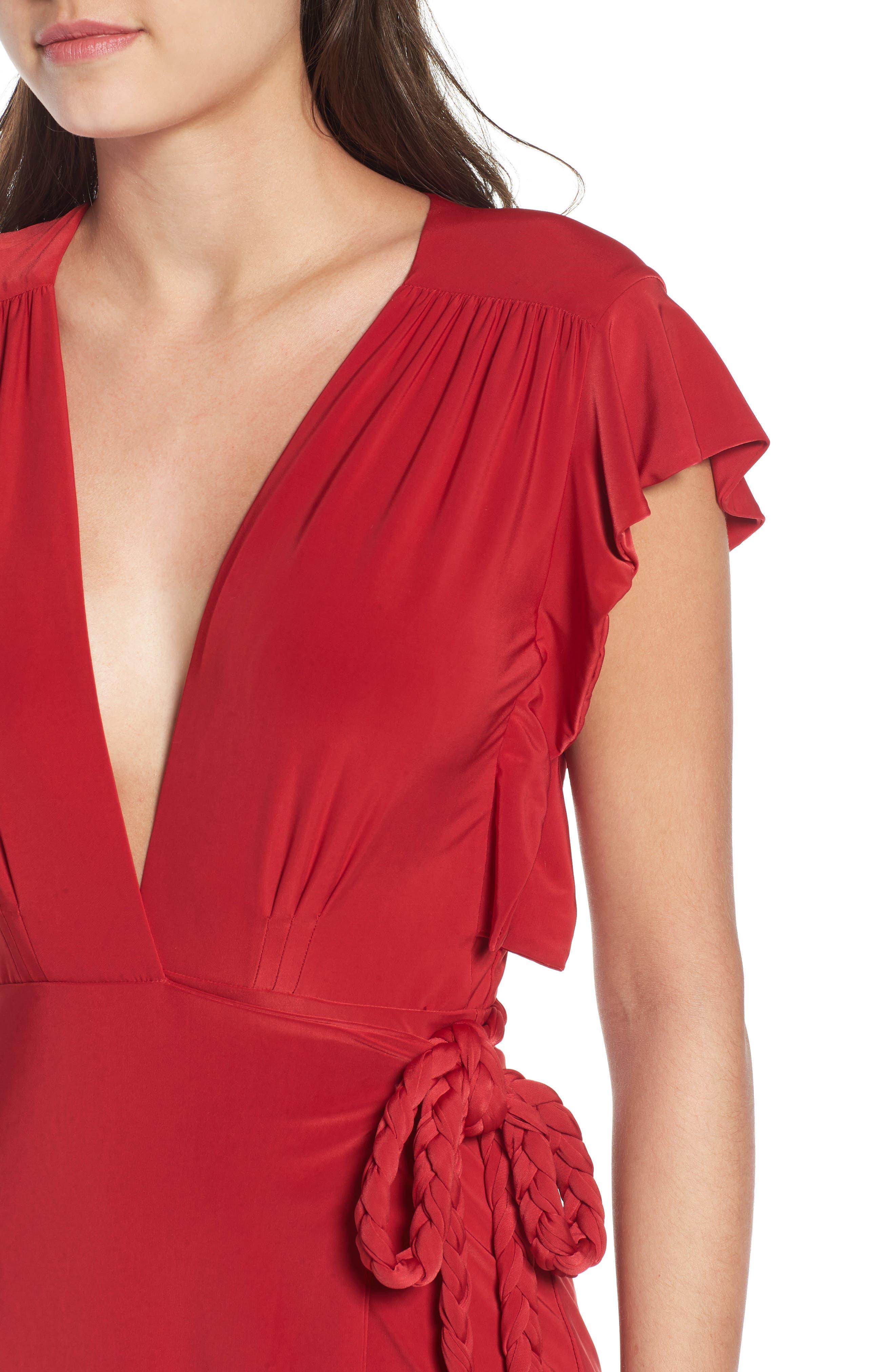 MISA LOS ANGELES, Irina Dress, Alternate thumbnail 5, color, RED