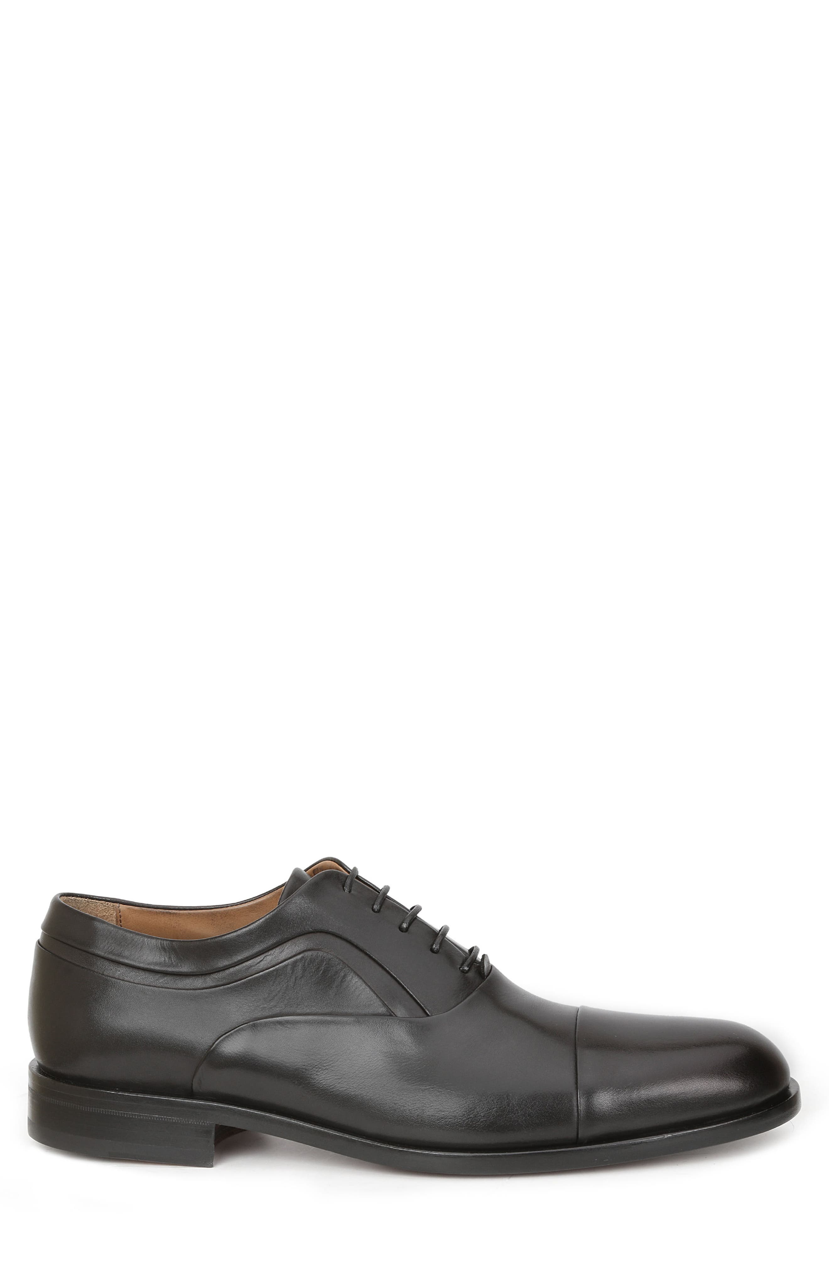 BRUNO MAGLI, Sassiolo Cap Toe Oxford, Alternate thumbnail 3, color, BLACK