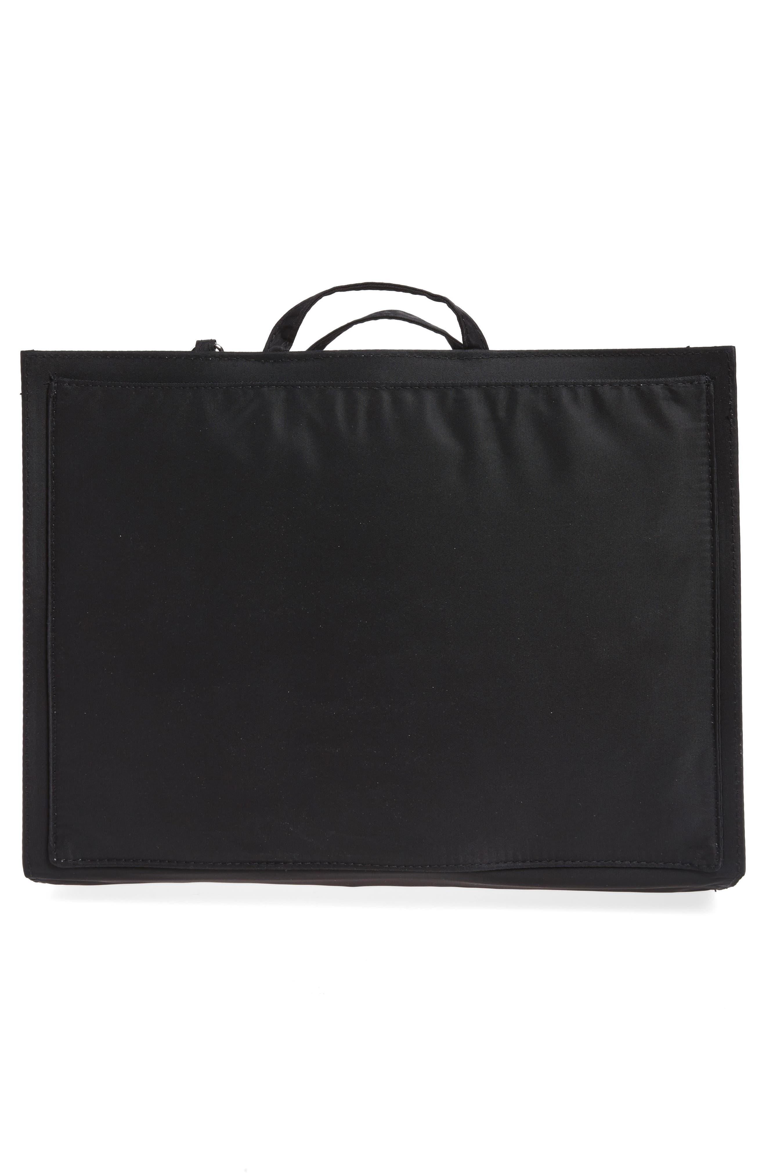 TOTESAVVY, Organization Handbag Insert, Alternate thumbnail 3, color, CLASSIC BLACK