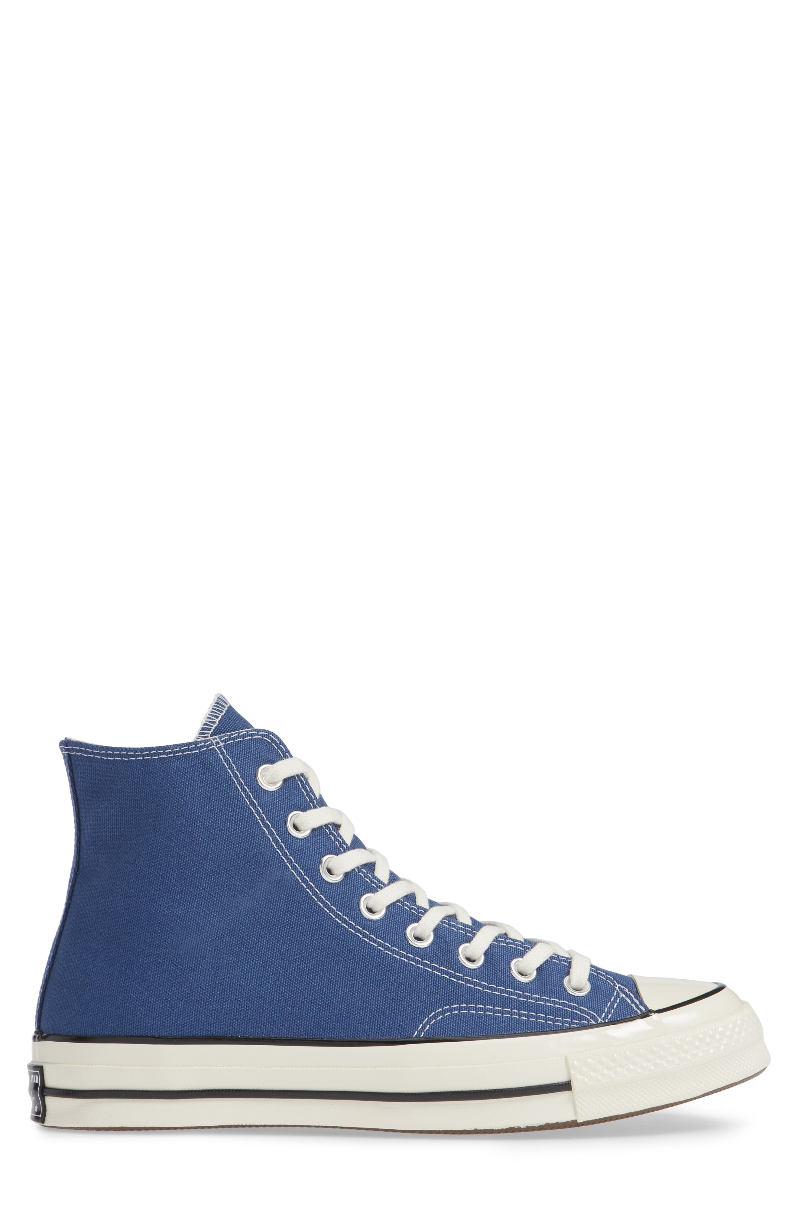 CONVERSE, Chuck Taylor<sup>®</sup> All Star<sup>®</sup> 70 Vintage High Top Sneaker, Alternate thumbnail 3, color, TRUE NAVY/ BLACK