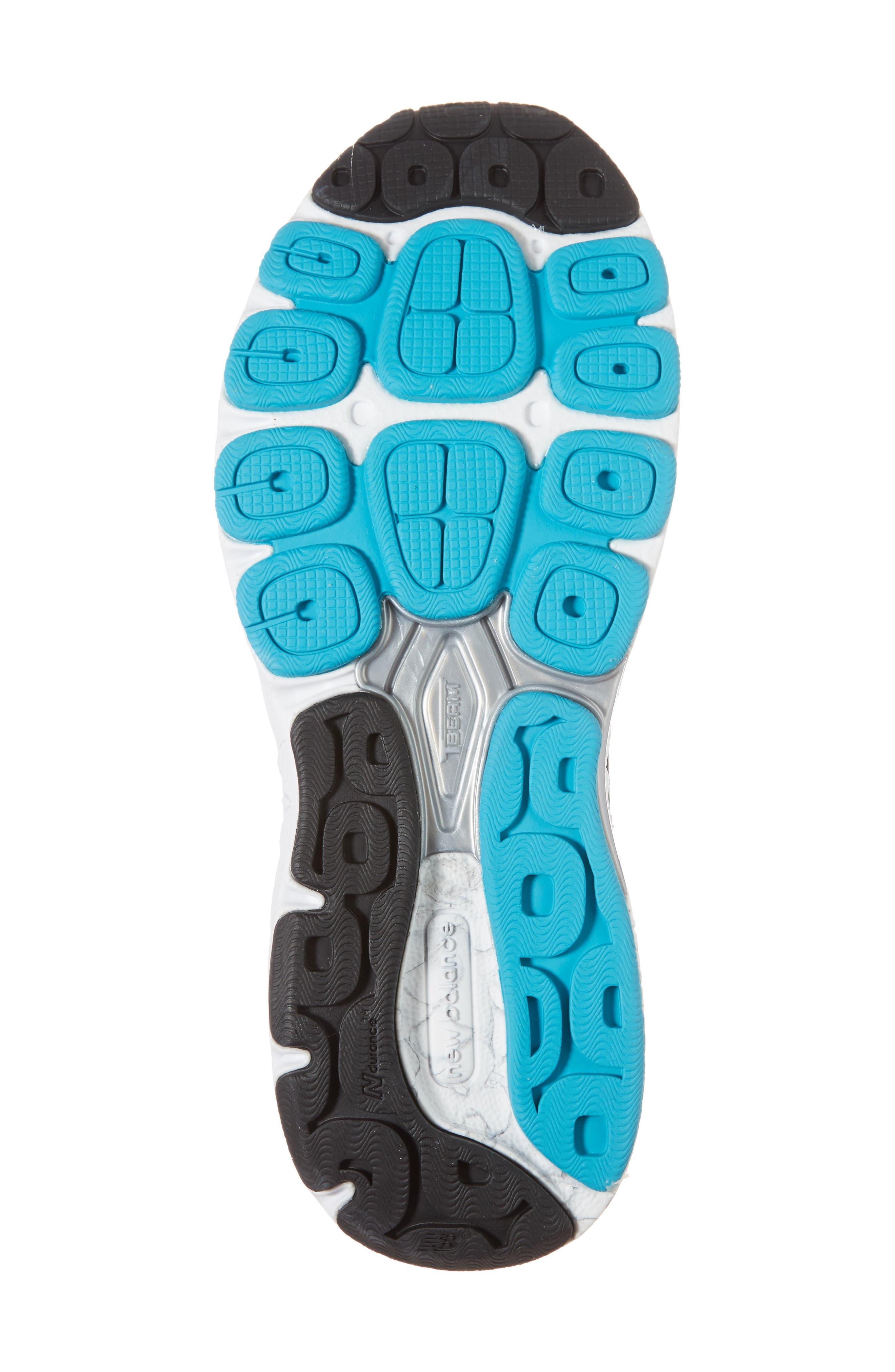 NEW BALANCE, 940v3 Running Shoe, Alternate thumbnail 6, color, BLACK/ BLUE