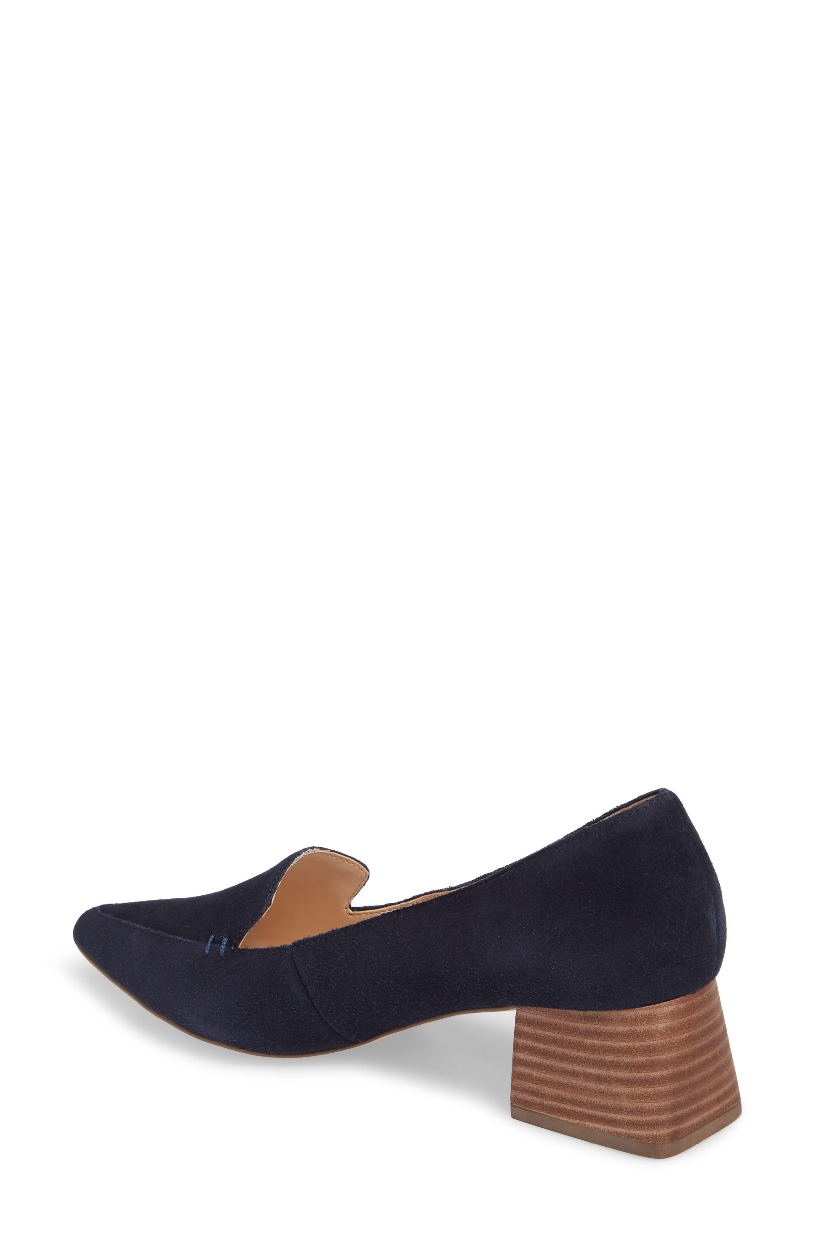 SOLE SOCIETY, Mavis Flare Heel Loafer, Alternate thumbnail 2, color, OMBRE BLUE