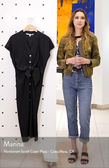 Giana Tie Waist Linen Blend Midi Dress, sales video thumbnail
