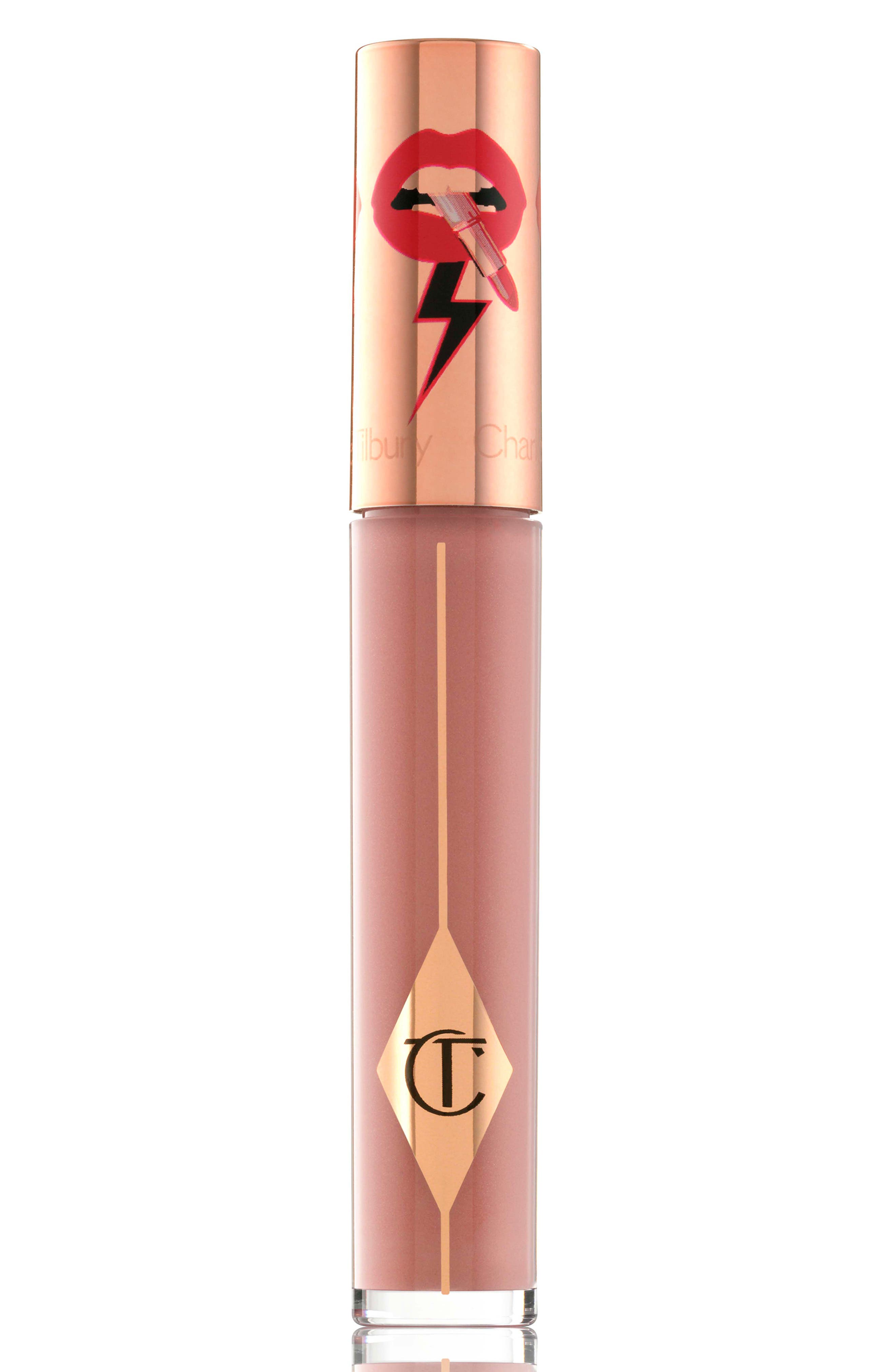 CHARLOTTE TILBURY, Latex Love Lip Gloss, Alternate thumbnail 4, color, BELLE DU SOIR