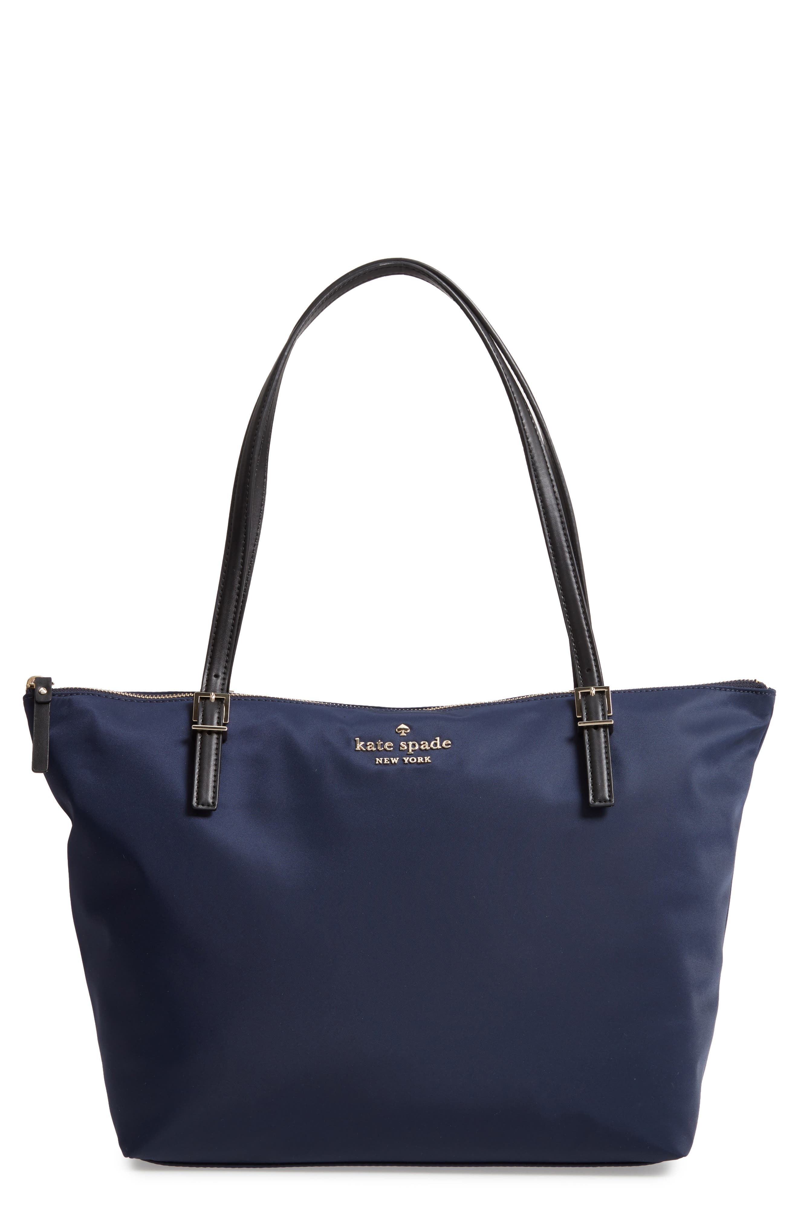 KATE SPADE NEW YORK watson lane maya nylon tote, Main, color, RICH NAVY
