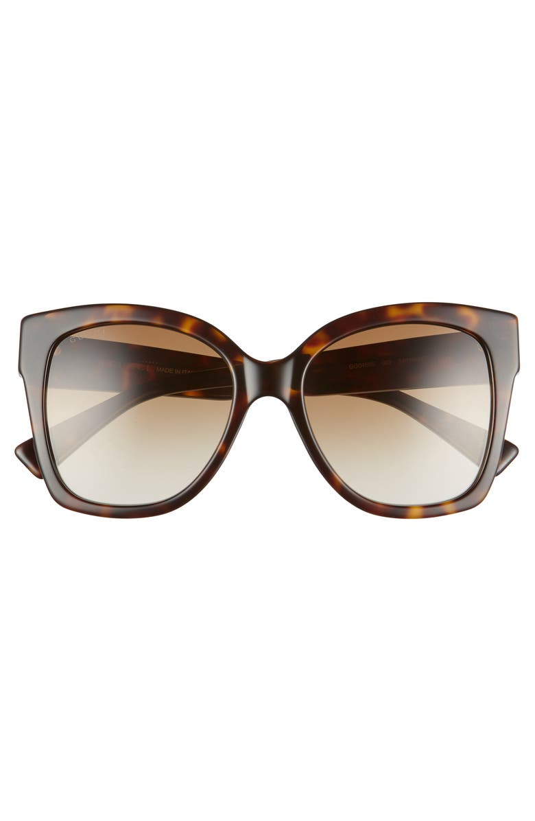 8f0b7b96eca49 Gucci 54Mm Square Sunglasses - Shiny Dk Hav  Brn Grad