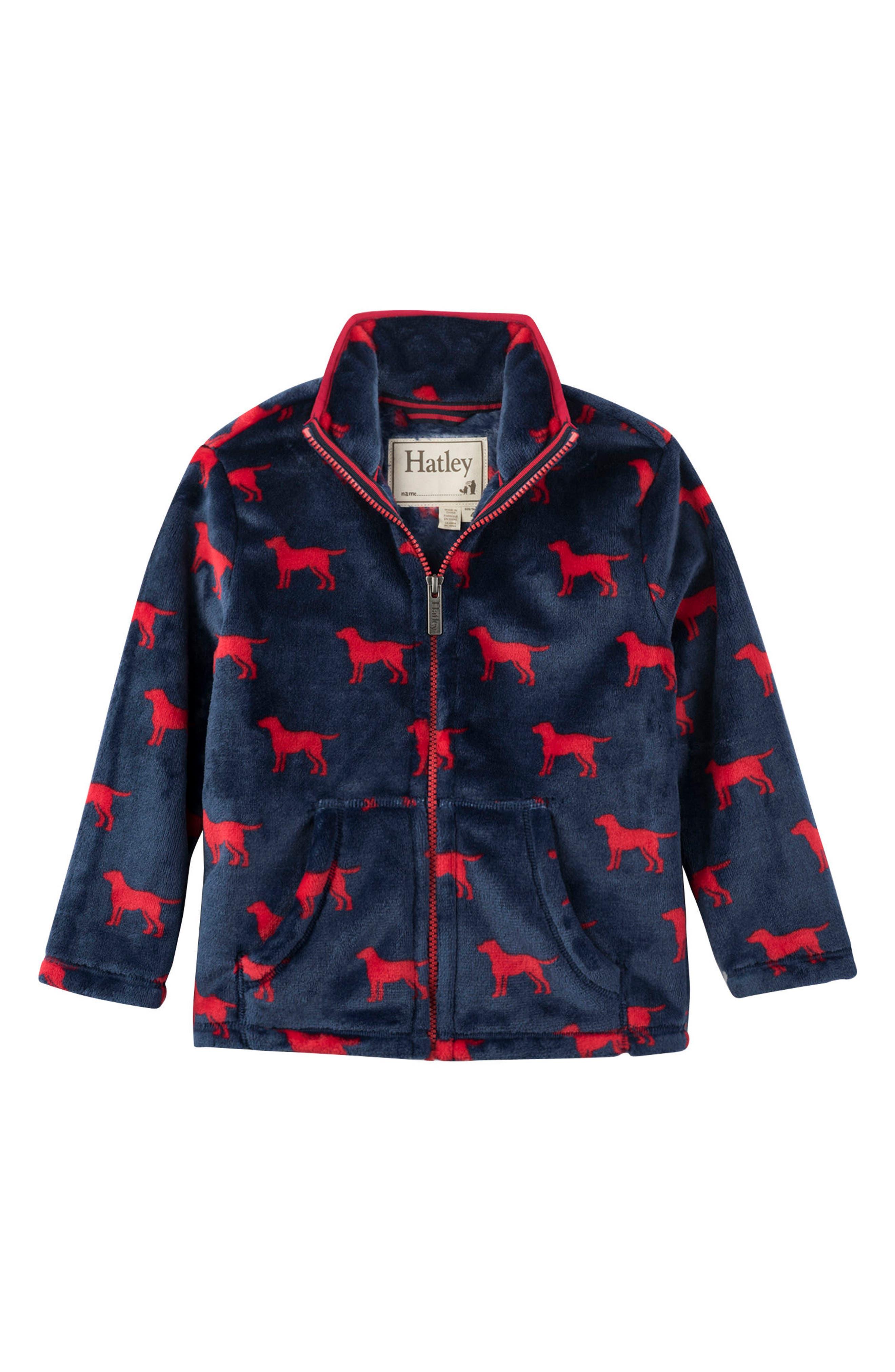 HATLEY, Red Labs Fleece Jacket, Main thumbnail 1, color, 400