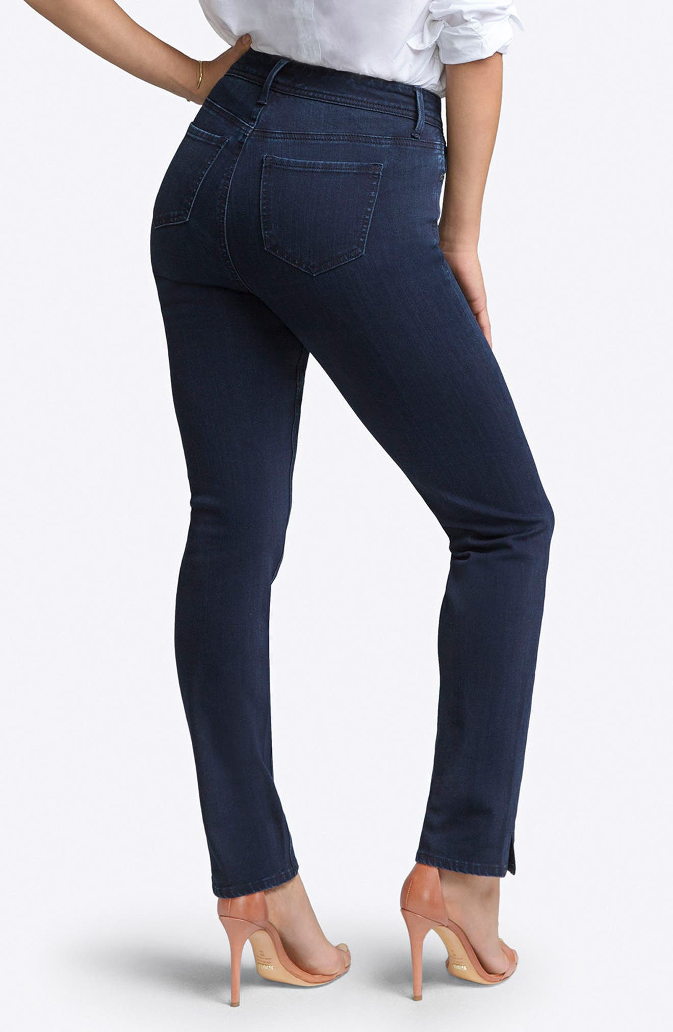 CURVES 360 BY NYDJ, Slim Straight Leg Jeans, Alternate thumbnail 2, color, BOWEN