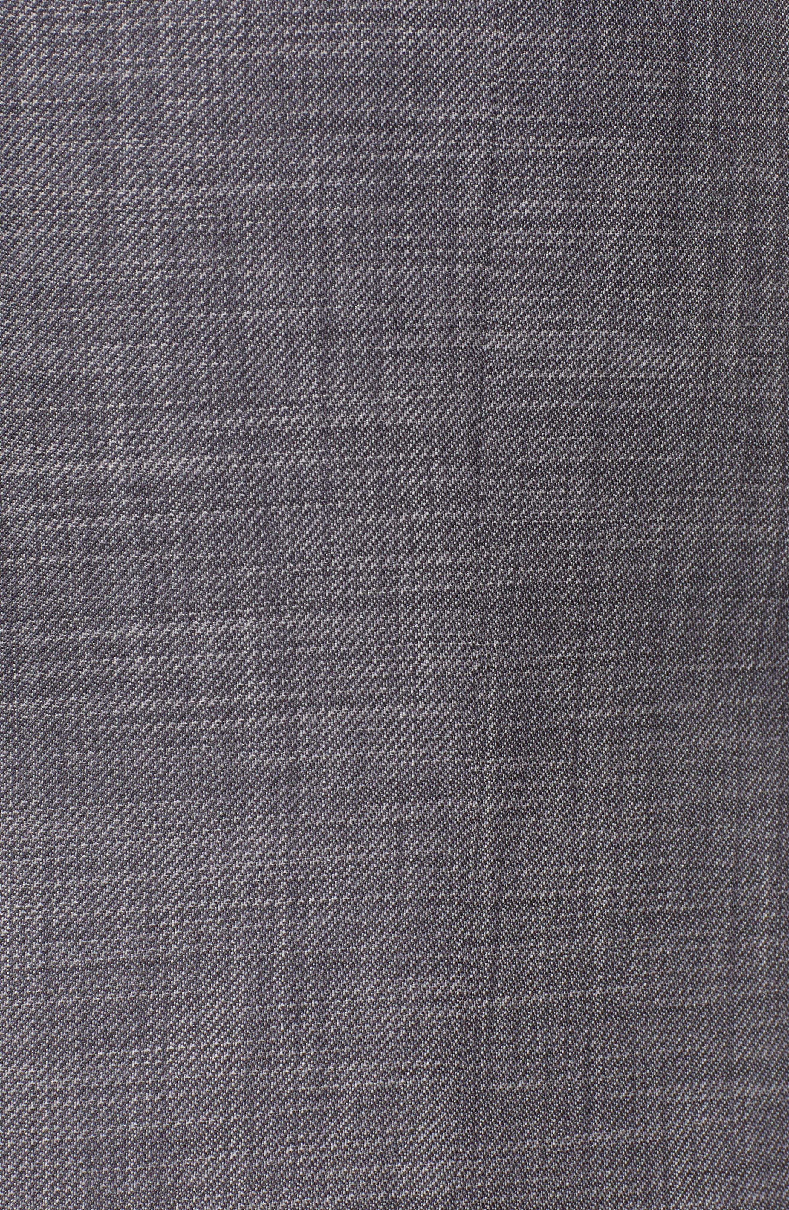 ERMENEGILDO ZEGNA, Milano Trim Fit Solid Wool & Silk Suit, Alternate thumbnail 7, color, GREY
