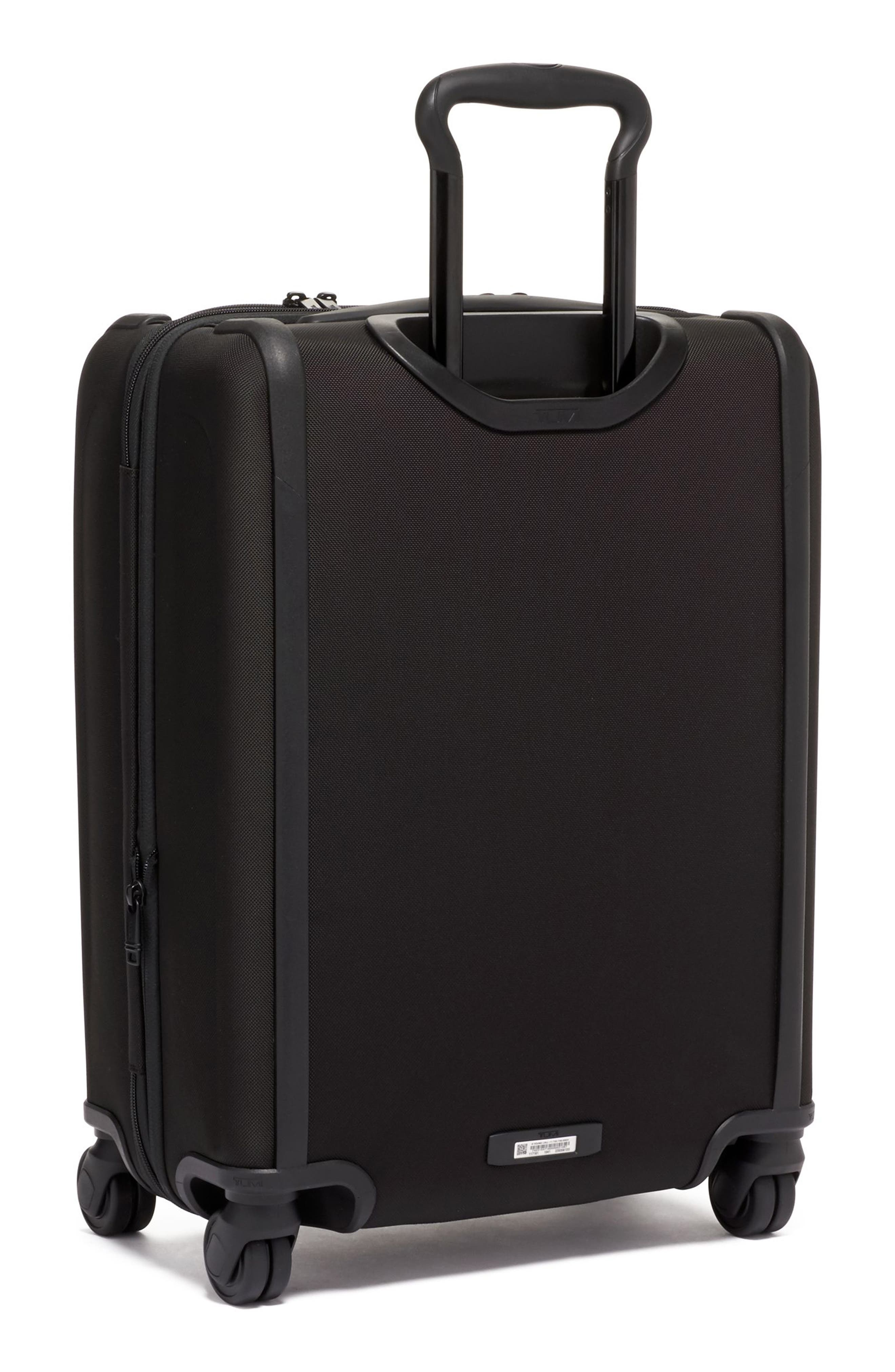 TUMI, Alpha 3 Collection 22-Inch Wheeled Dual Access Continental Carry-On, Alternate thumbnail 4, color, BLACK