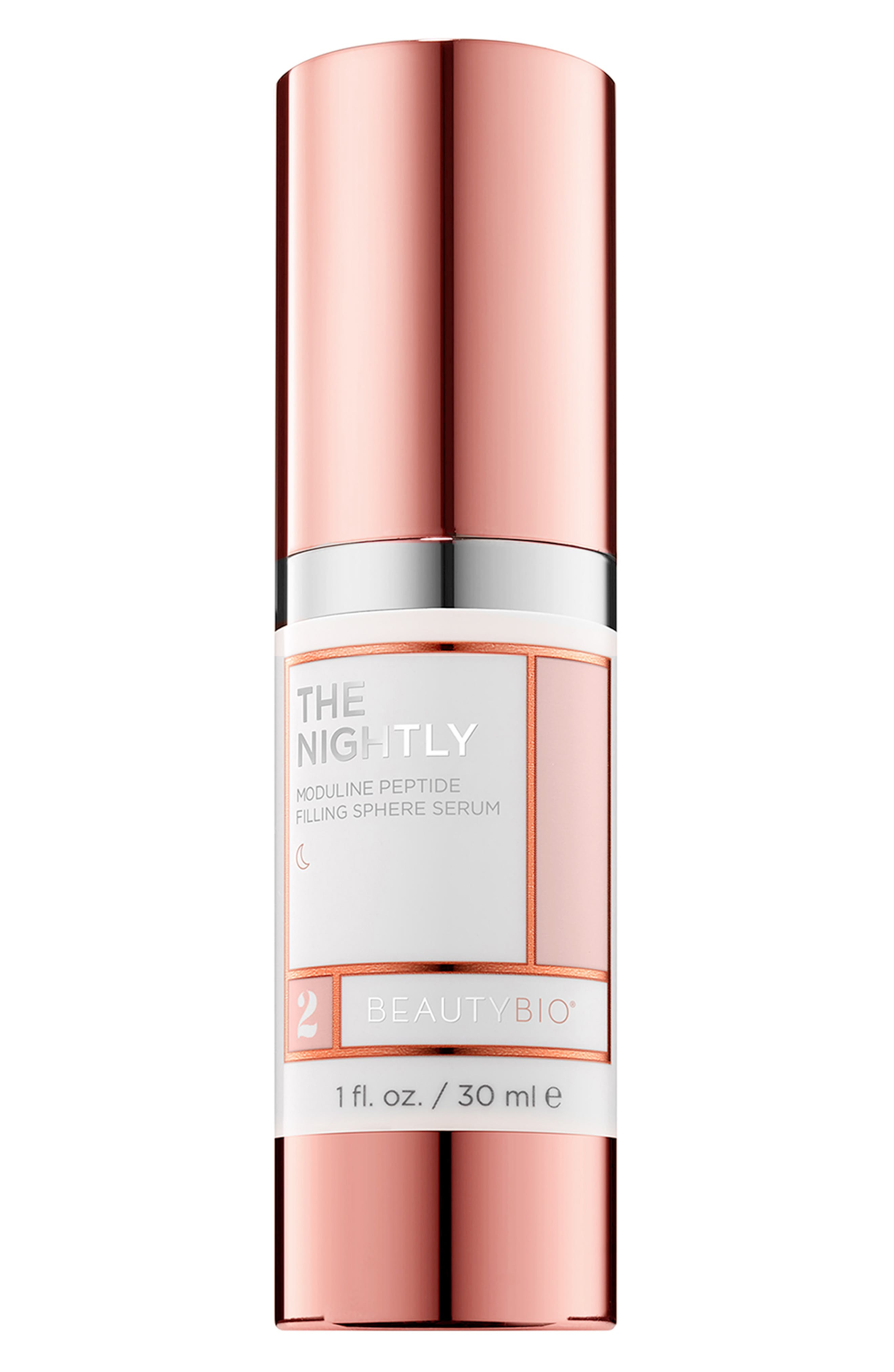 BEAUTYBIO, The Nightly Moduline Peptide Filling Sphere Serum, Main thumbnail 1, color, NO COLOR