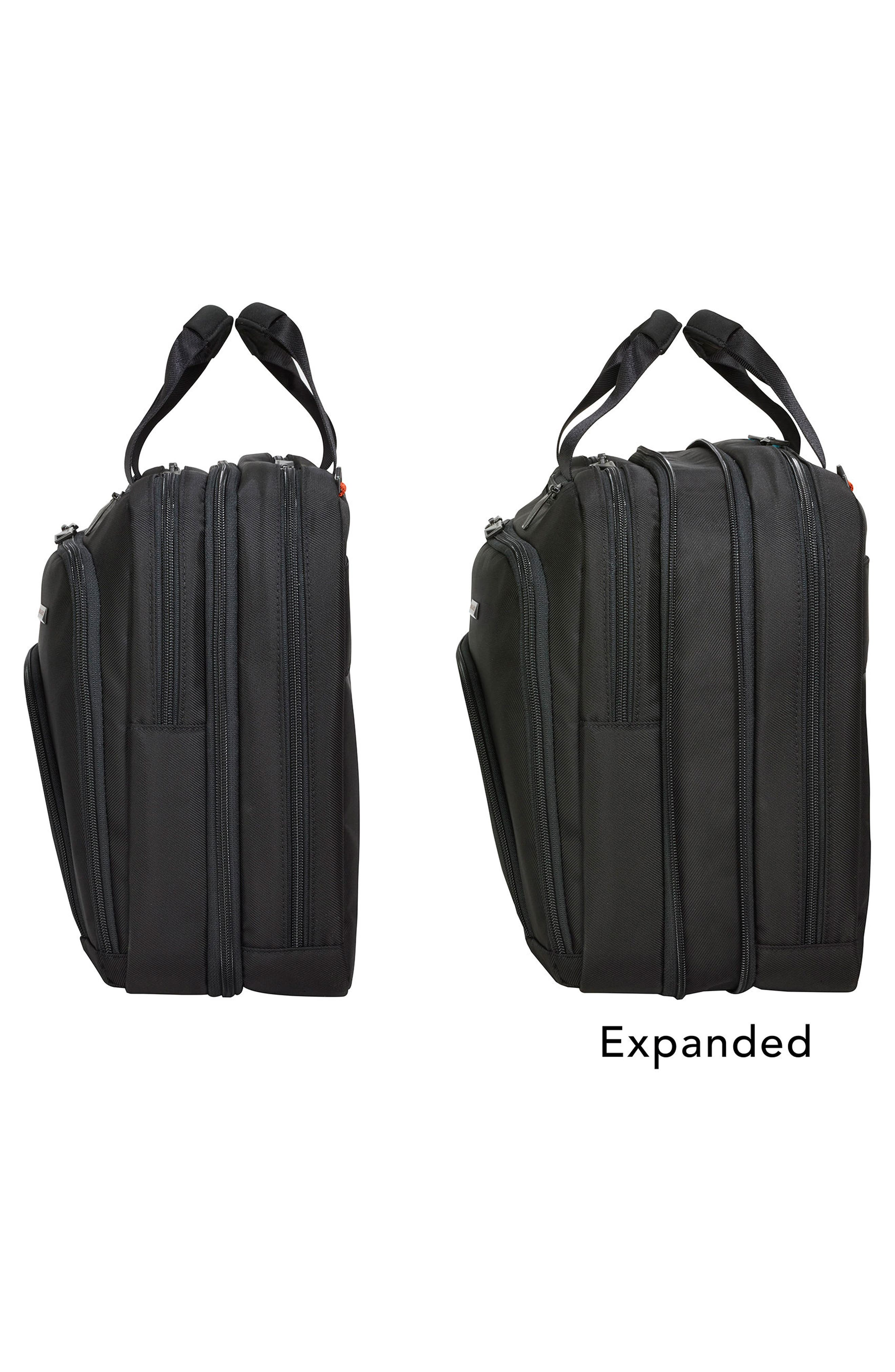 BRIGGS & RILEY, Verb - Adapt Expandable Briefcase, Alternate thumbnail 2, color, BLACK