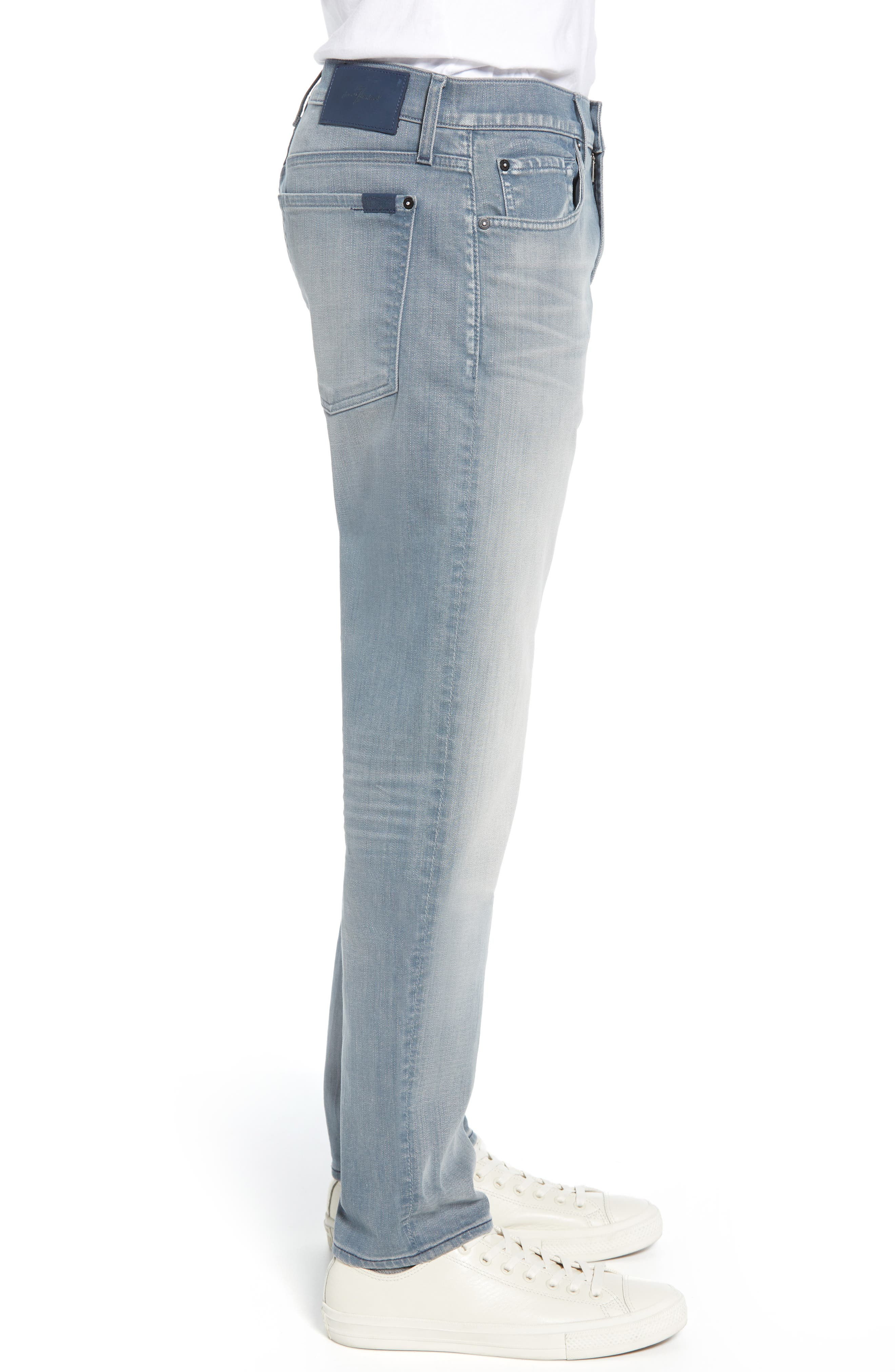 7 FOR ALL MANKIND<SUP>®</SUP>, Ryley Skinny Fit Jeans, Alternate thumbnail 3, color, AEGEAN