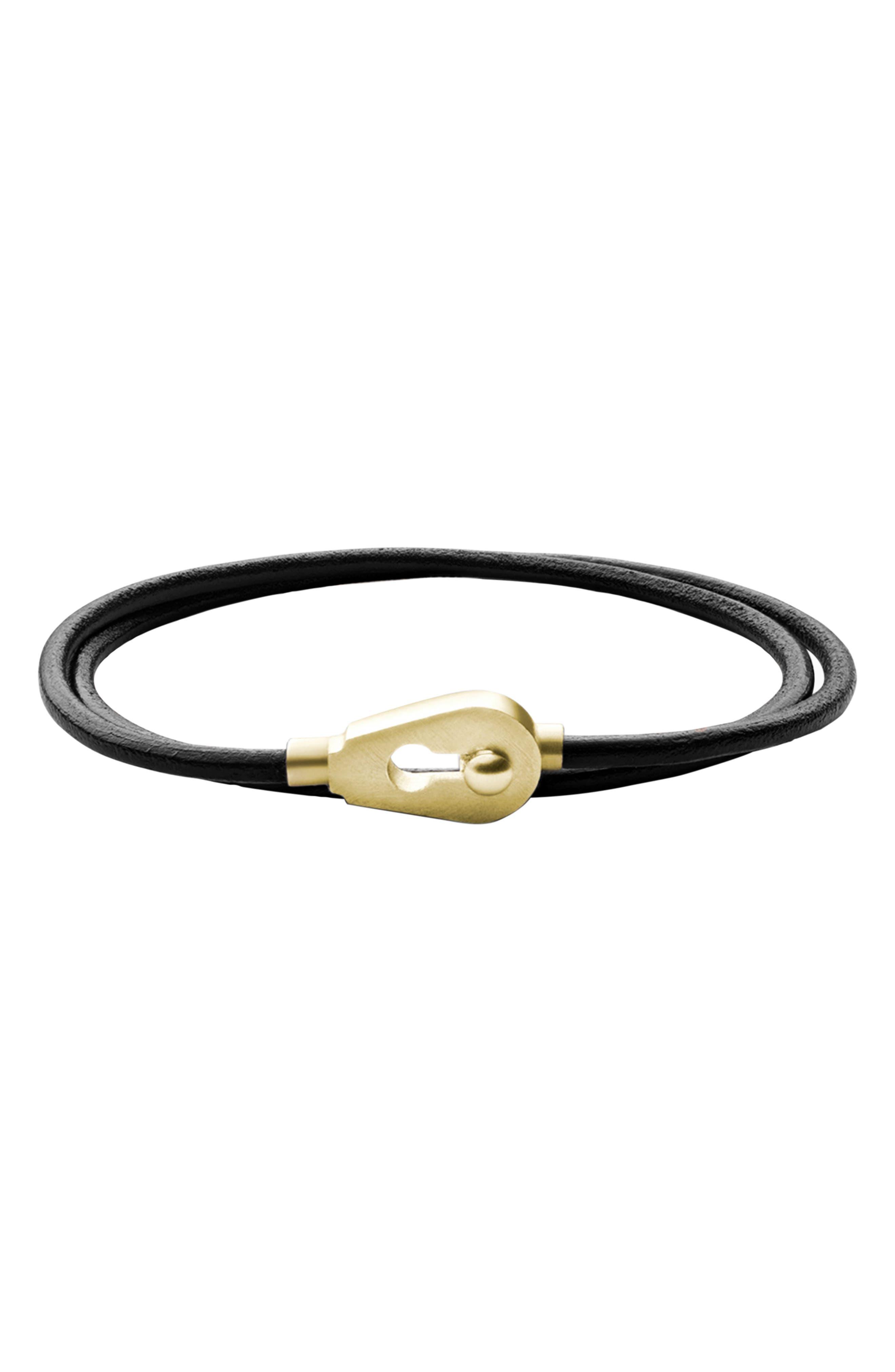 MIANSAI, Centra Leather Wrap Bracelet, Main thumbnail 1, color, 001