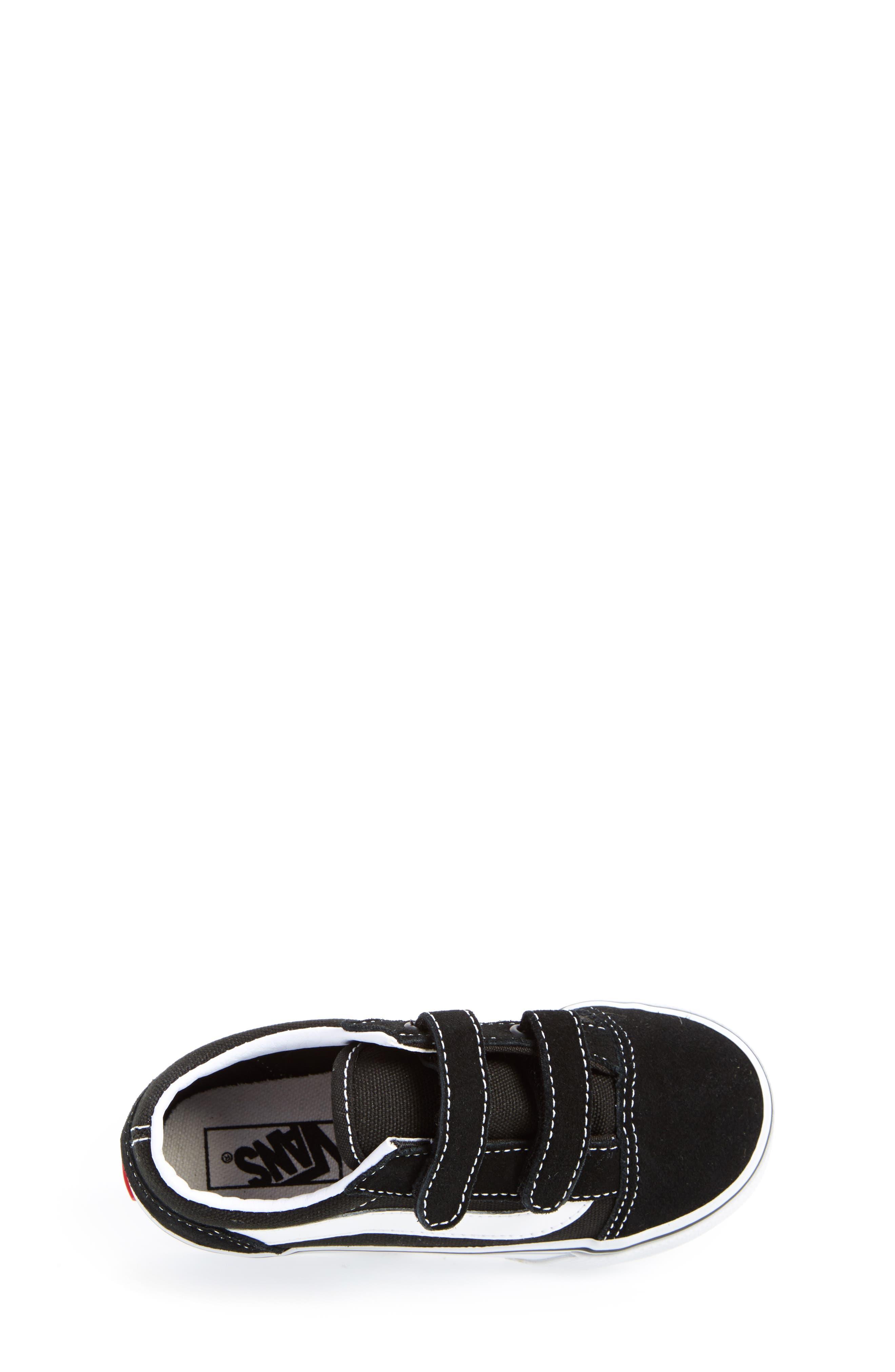 VANS, 'Old Skool V' Sneaker, Alternate thumbnail 3, color, BLACK/ TRUE WHITE