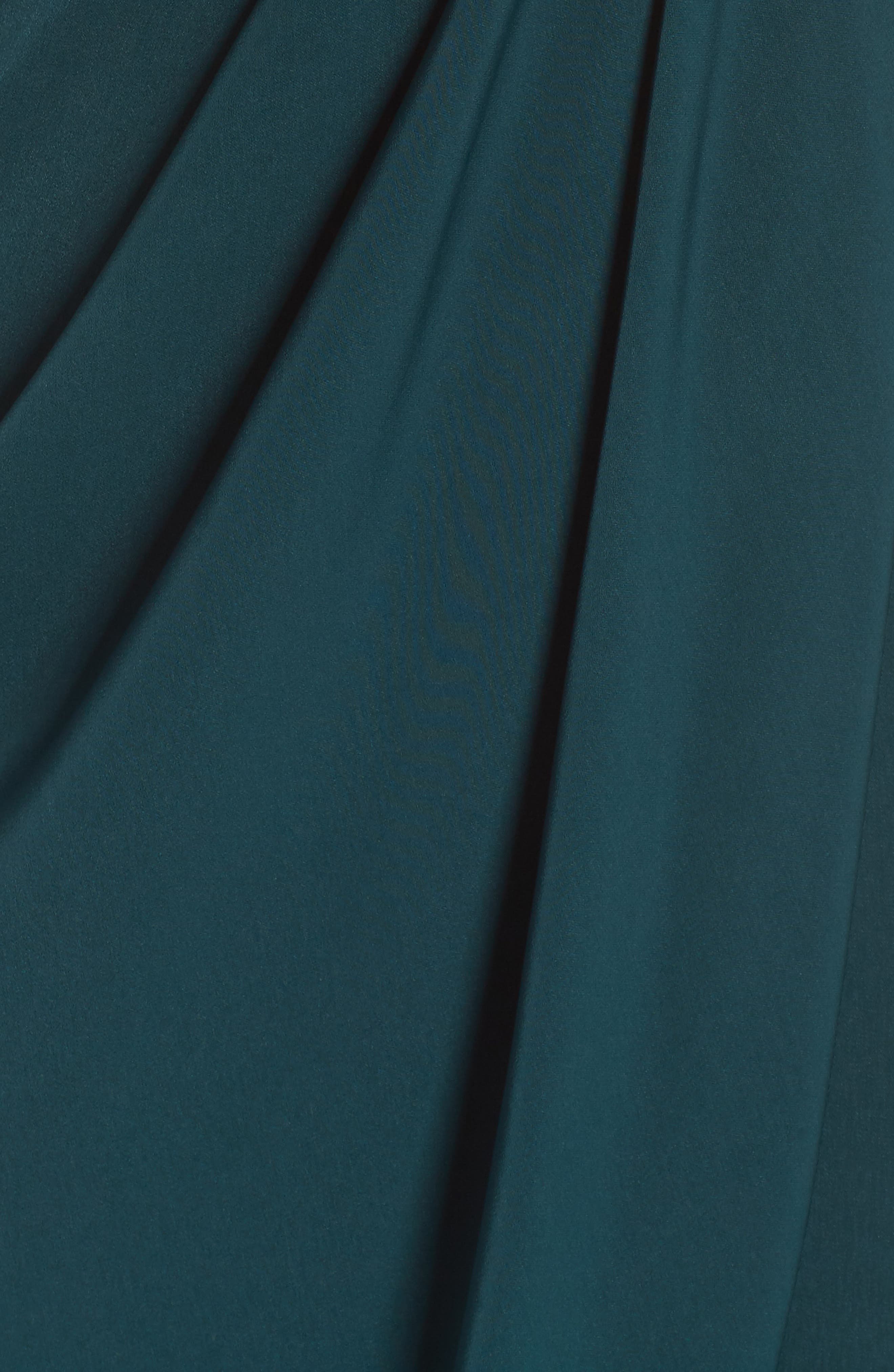 SHONA JOY, Tulip Hem Maxi Dress, Alternate thumbnail 6, color, SEAWEED