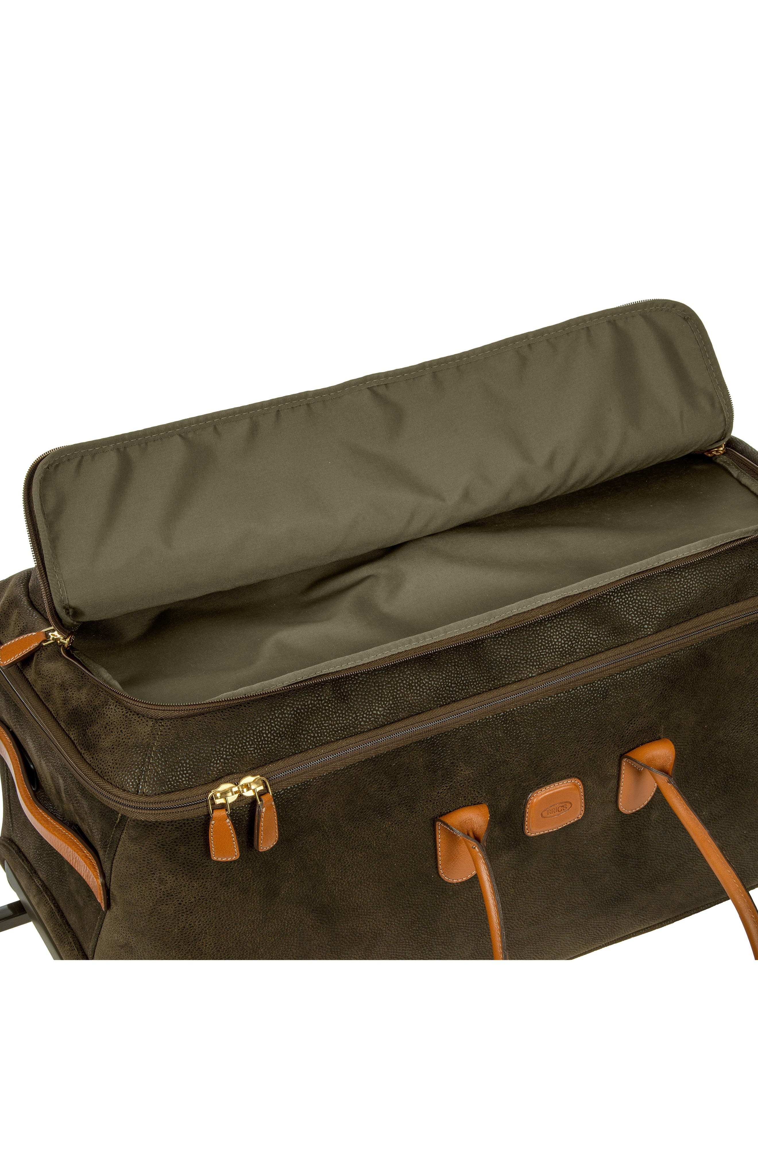 BRIC'S, Brics Life Collection 28-Inch Rolling Duffle Bag, Alternate thumbnail 4, color, OLIVE