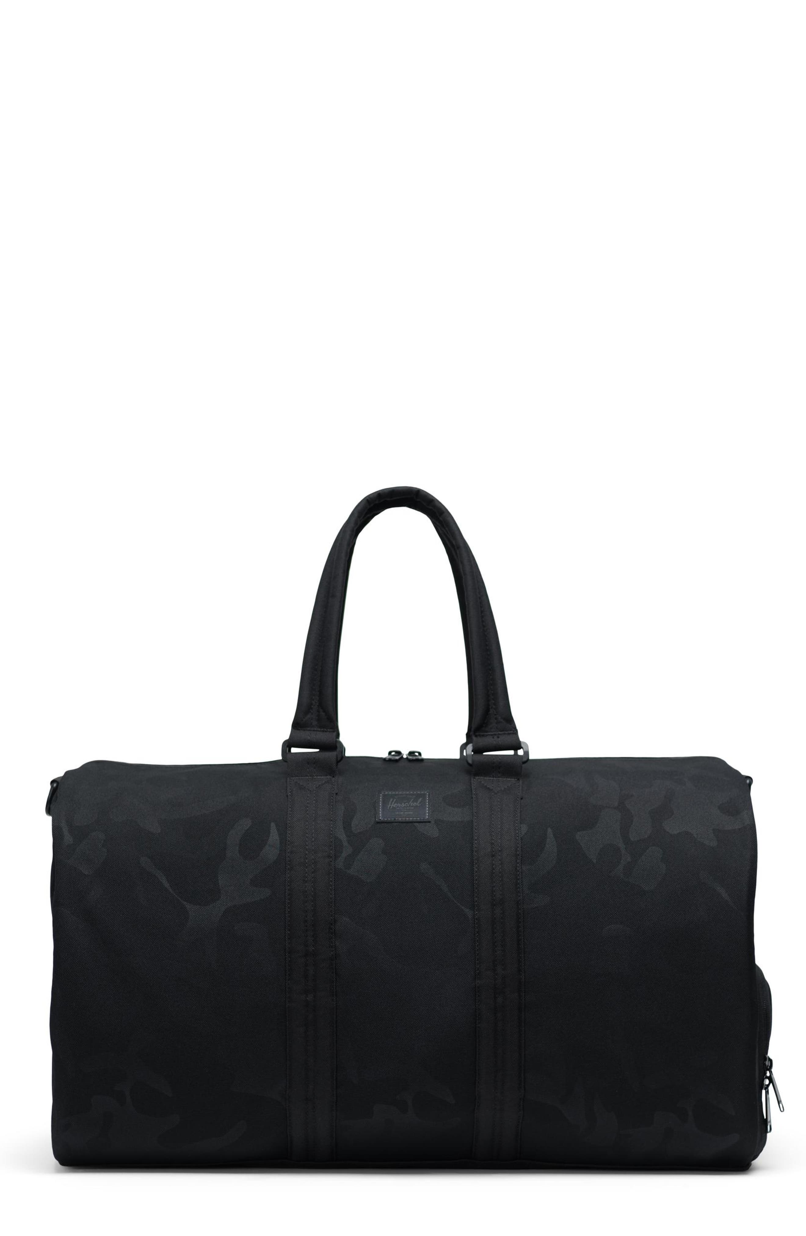 HERSCHEL SUPPLY CO., Duffle Bag, Main thumbnail 1, color, BLACK/ TONAL CAMO