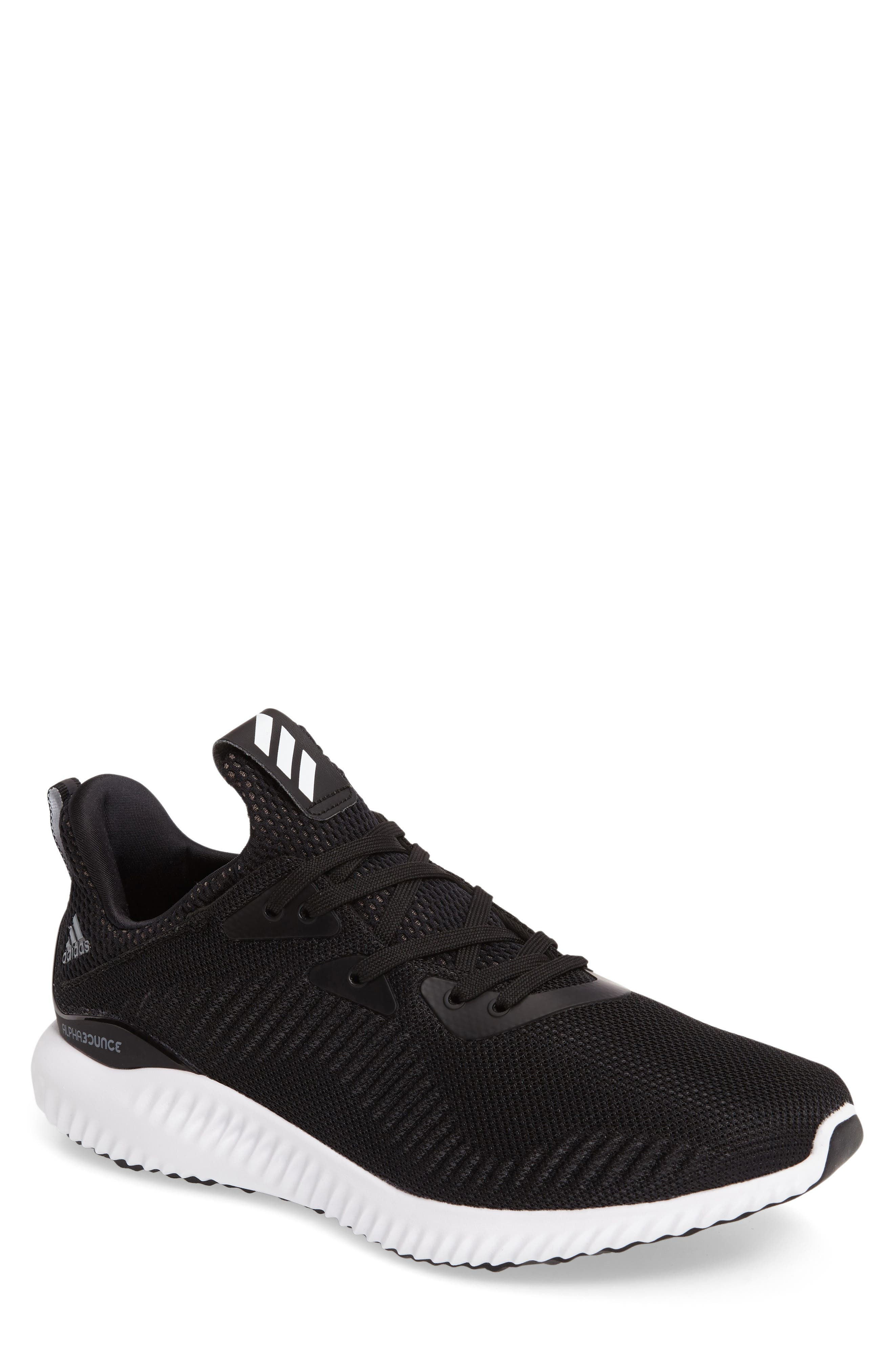 ADIDAS AlphaBounce Running Shoe, Main, color, 002