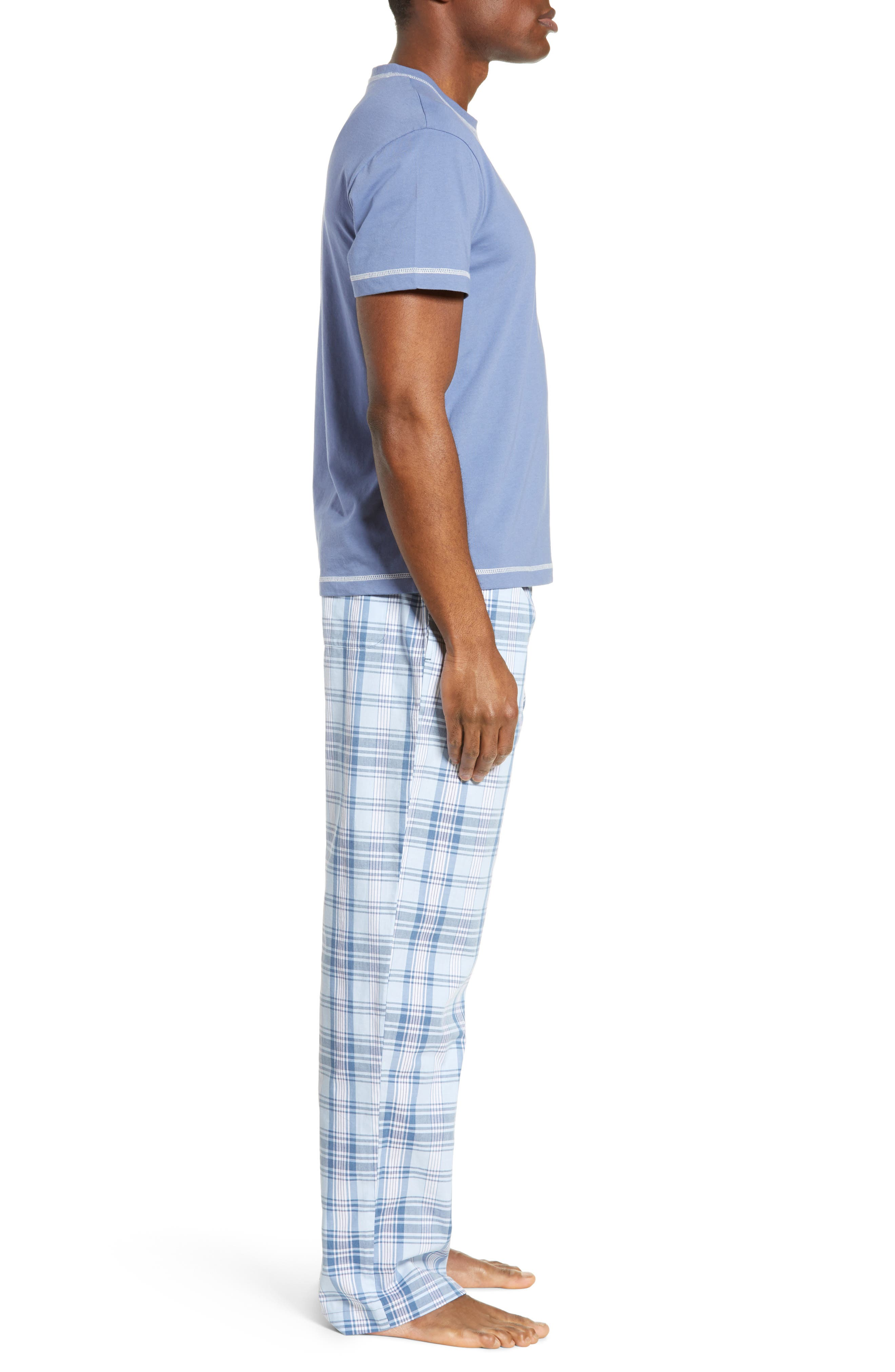 MAJESTIC INTERNATIONAL, Check Mates Pajamas, Alternate thumbnail 3, color, CAPRI