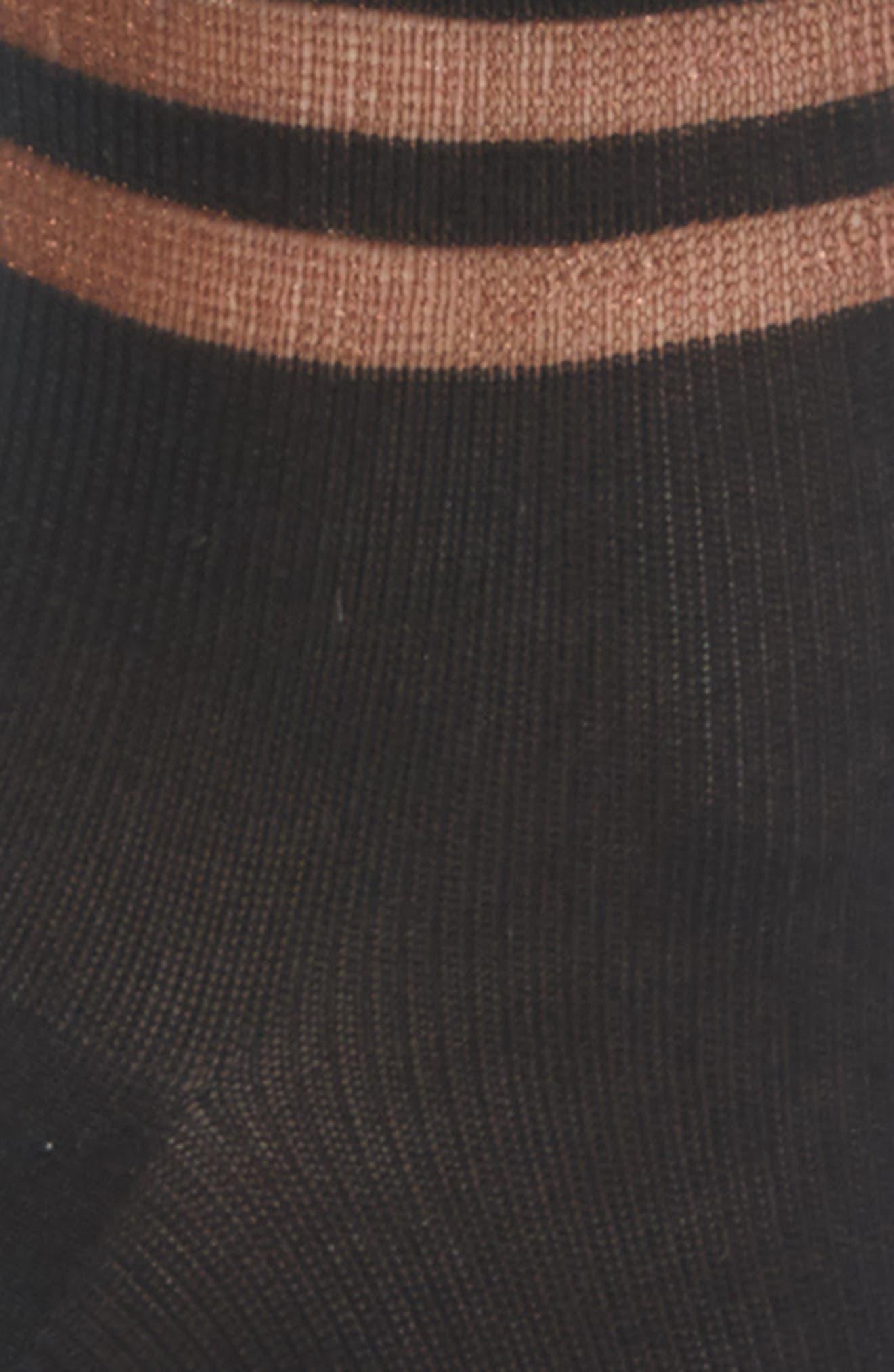 FENDI, Touch of Double F Socks, Alternate thumbnail 2, color, BLACK