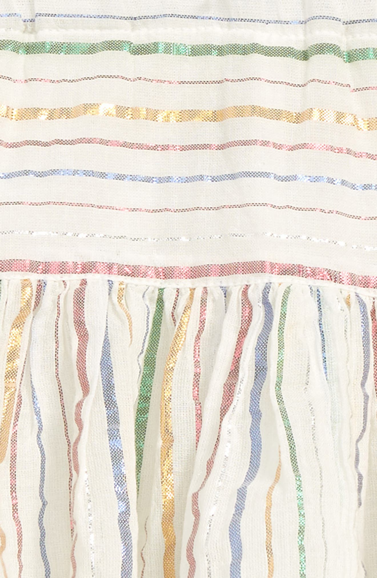 PEEK AREN'T YOU CURIOUS, Nora Stripe Skirt, Alternate thumbnail 2, color, IVORY