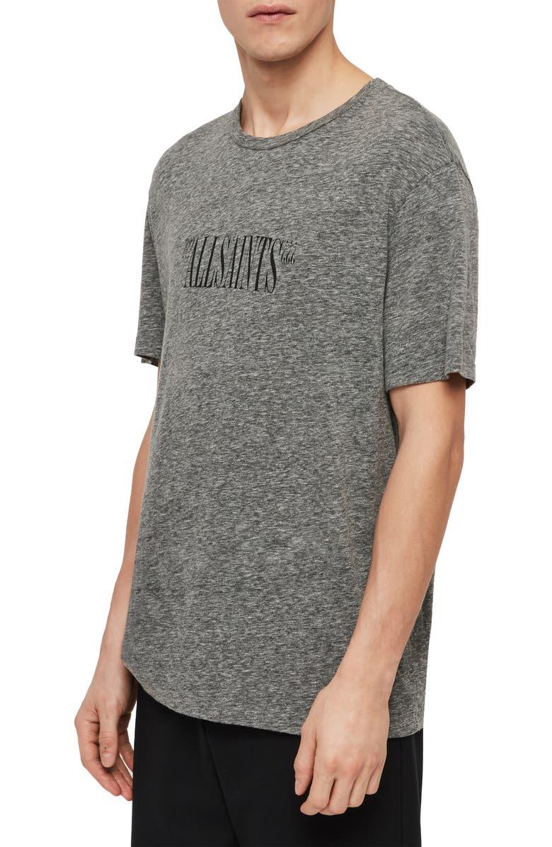 Allsaints T-shirts BRACKETS SLIM FIT CREWNECK T-SHIRT