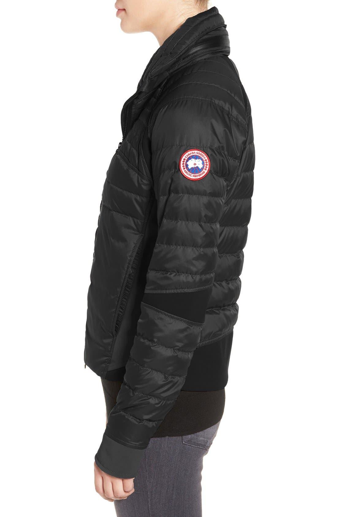 CANADA GOOSE, Hybridge Perren Jacket, Alternate thumbnail 7, color, BLACK