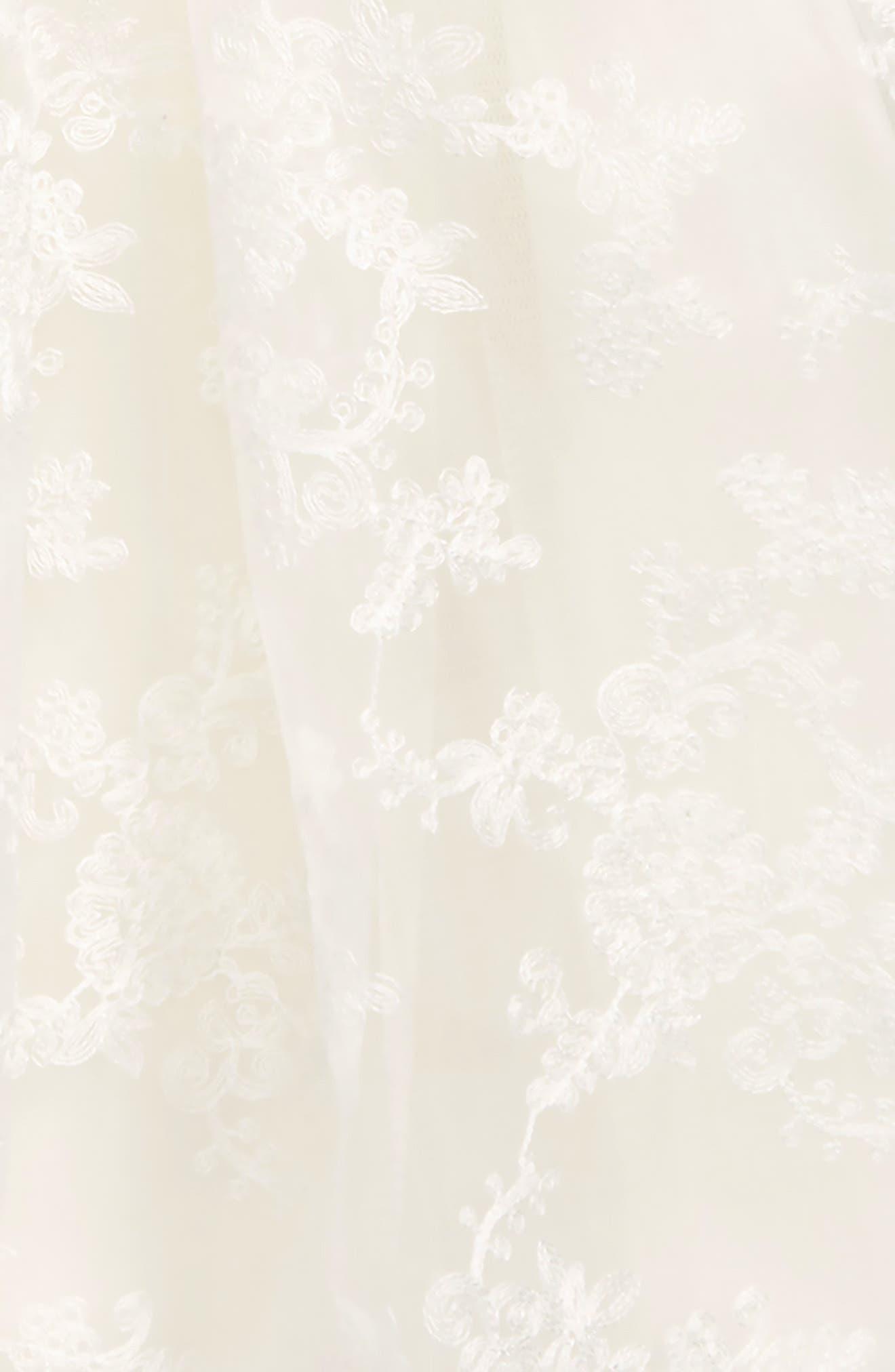 POPATU, Embroidered Dress, Alternate thumbnail 2, color, WHITE