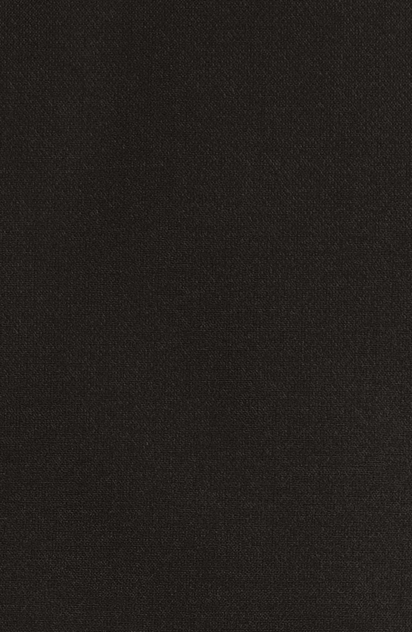 VERSACE COLLECTION, Stretch Cady Sheath Dress, Alternate thumbnail 6, color, BLACK