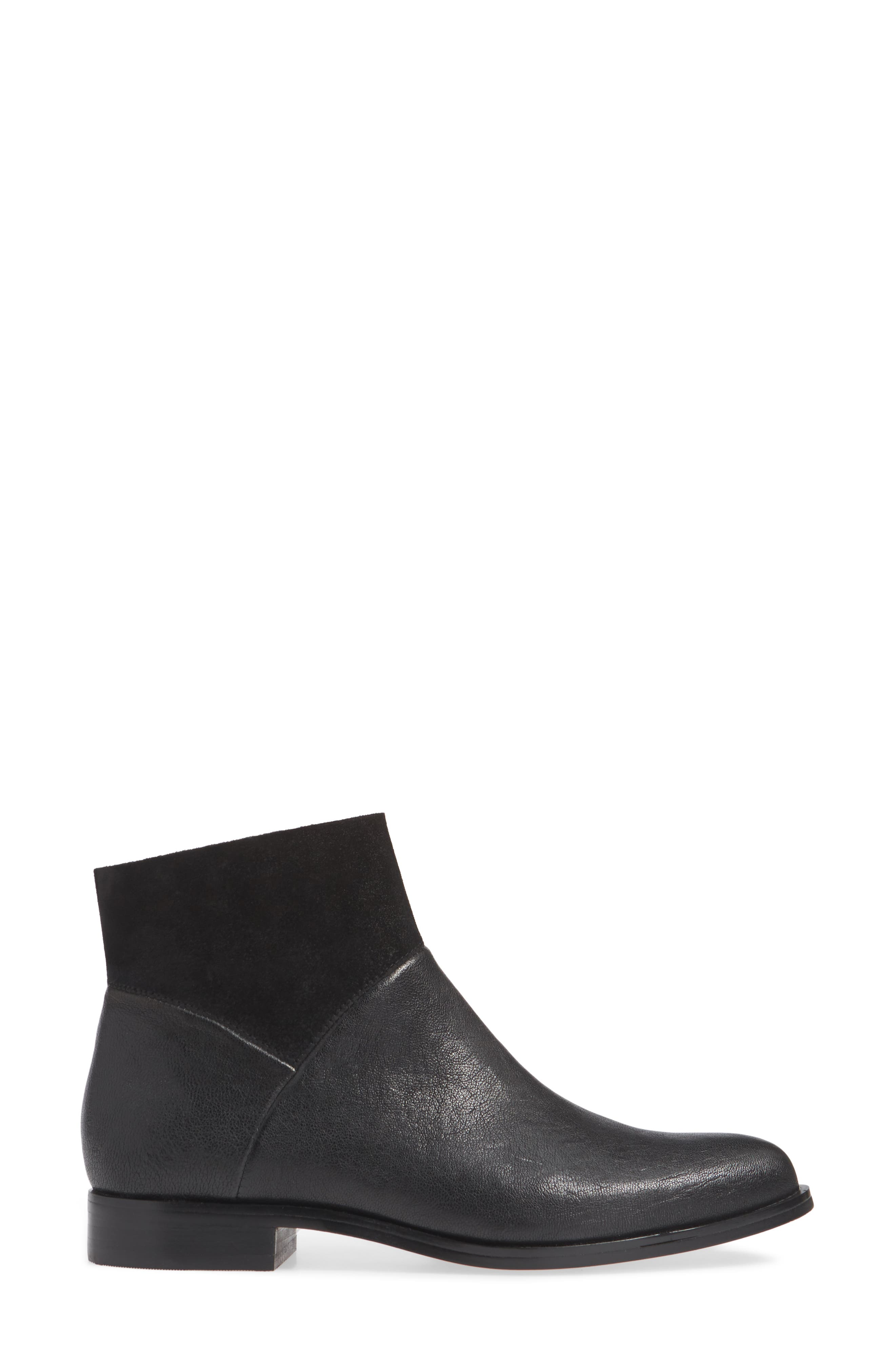 ISOLÁ, Isola Mosina Bootie, Alternate thumbnail 3, color, BLACK LEATHER