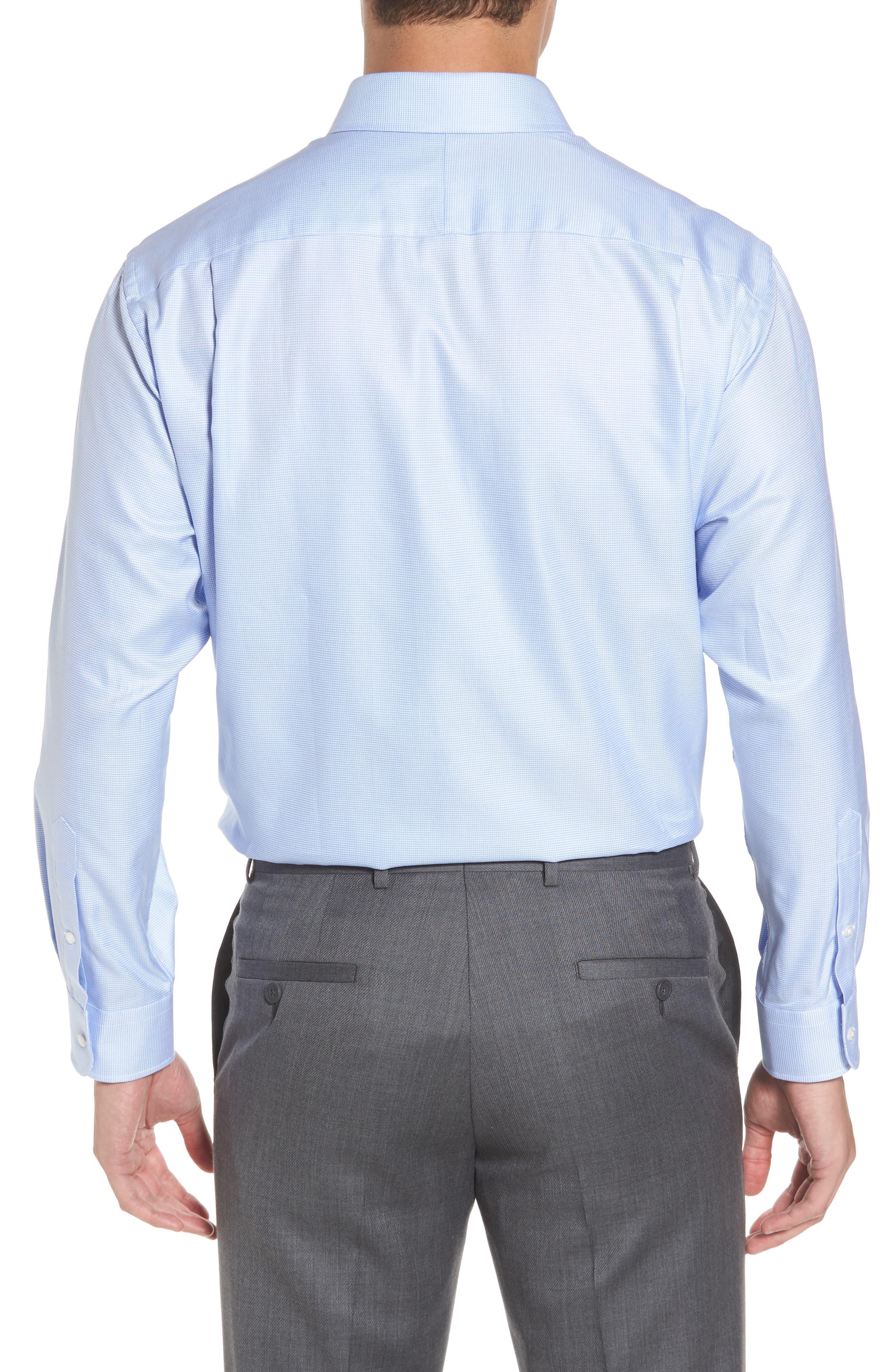 NORDSTROM MEN'S SHOP, Classic Fit Microgrid Dress Shirt, Alternate thumbnail 2, color, BLUE ROBIN