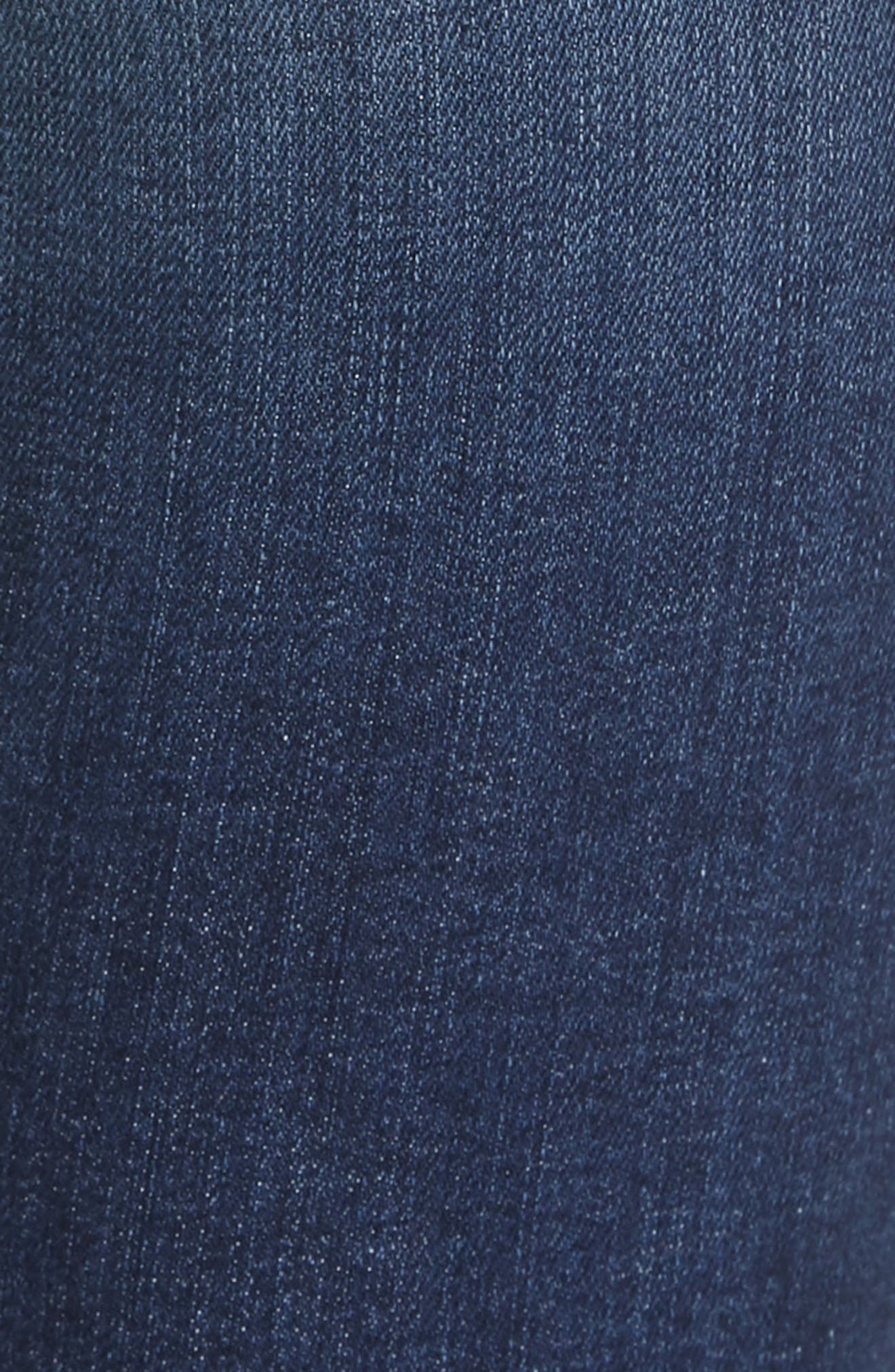 FRAME, Le Sylvie Blind Stitch Straight Leg Jeans, Alternate thumbnail 6, color, JOURNEY