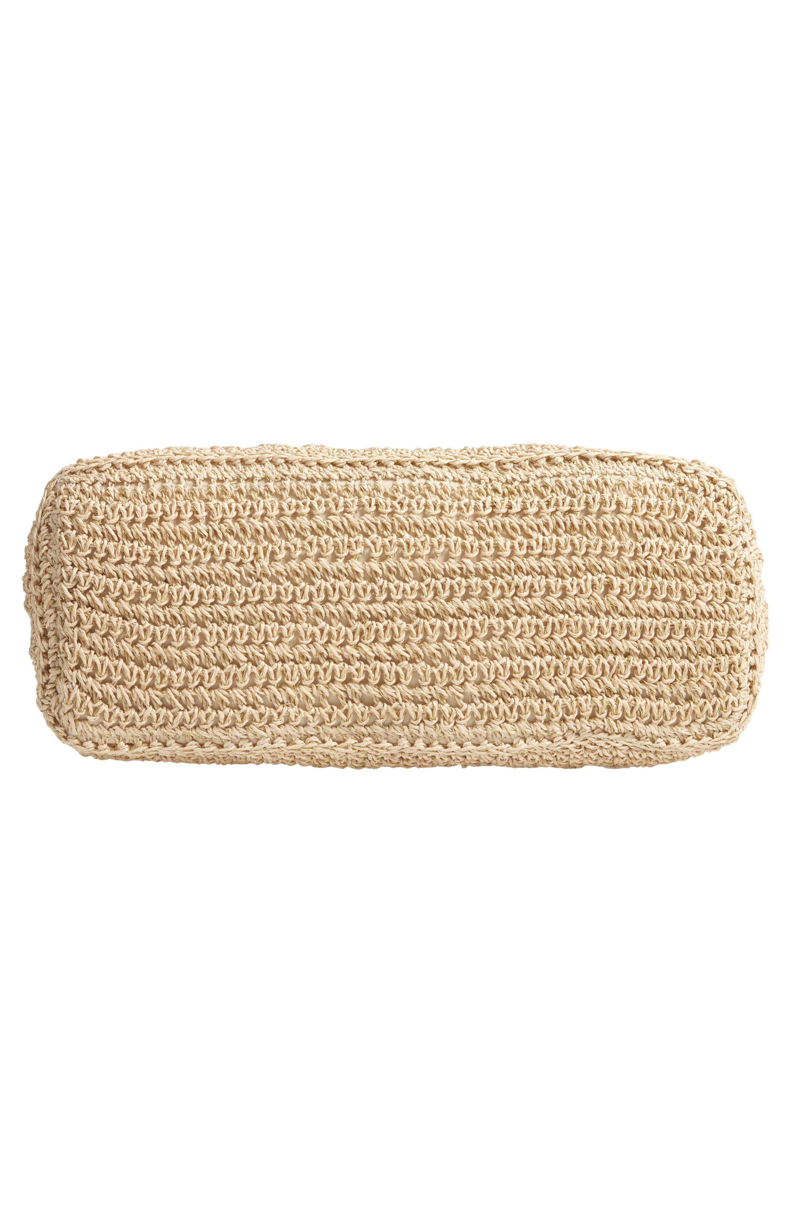 NORDSTROM, Packable Woven Raffia Tote, Alternate thumbnail 7, color, NATURAL