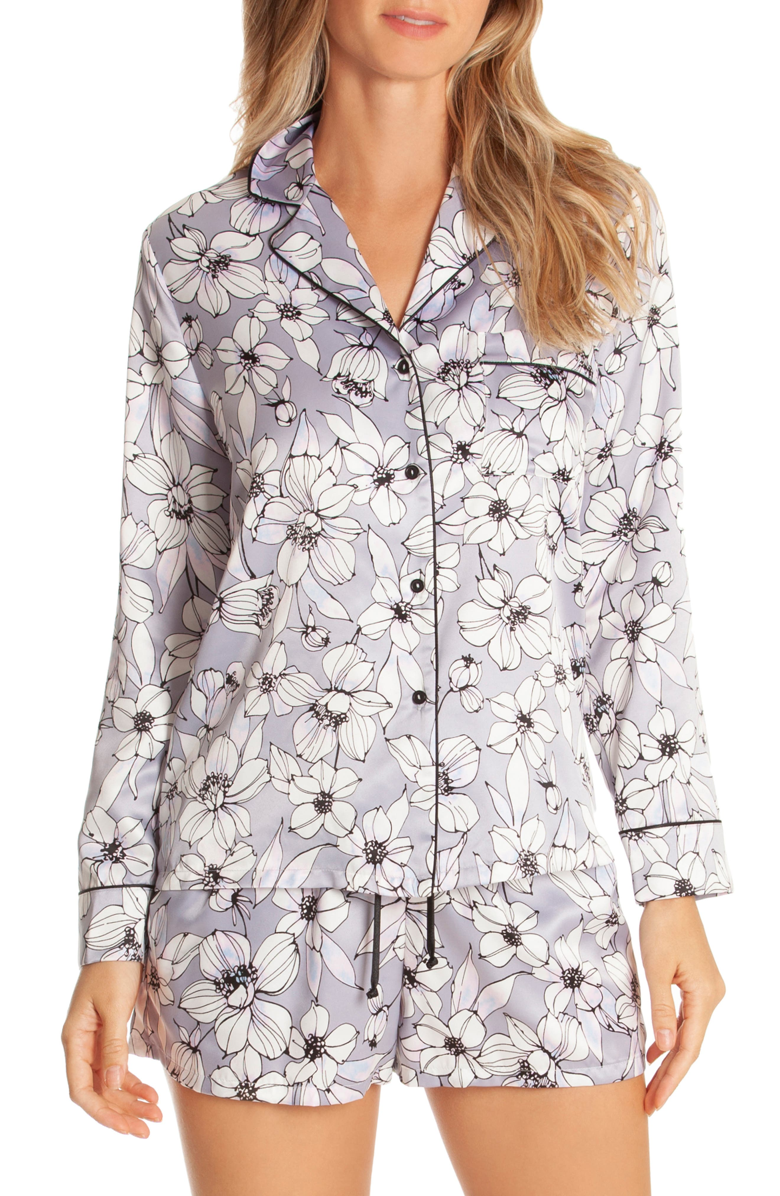 IN BLOOM BY JONQUIL Look of Love Short Pajamas, Main, color, GREY-RISA FLORAL